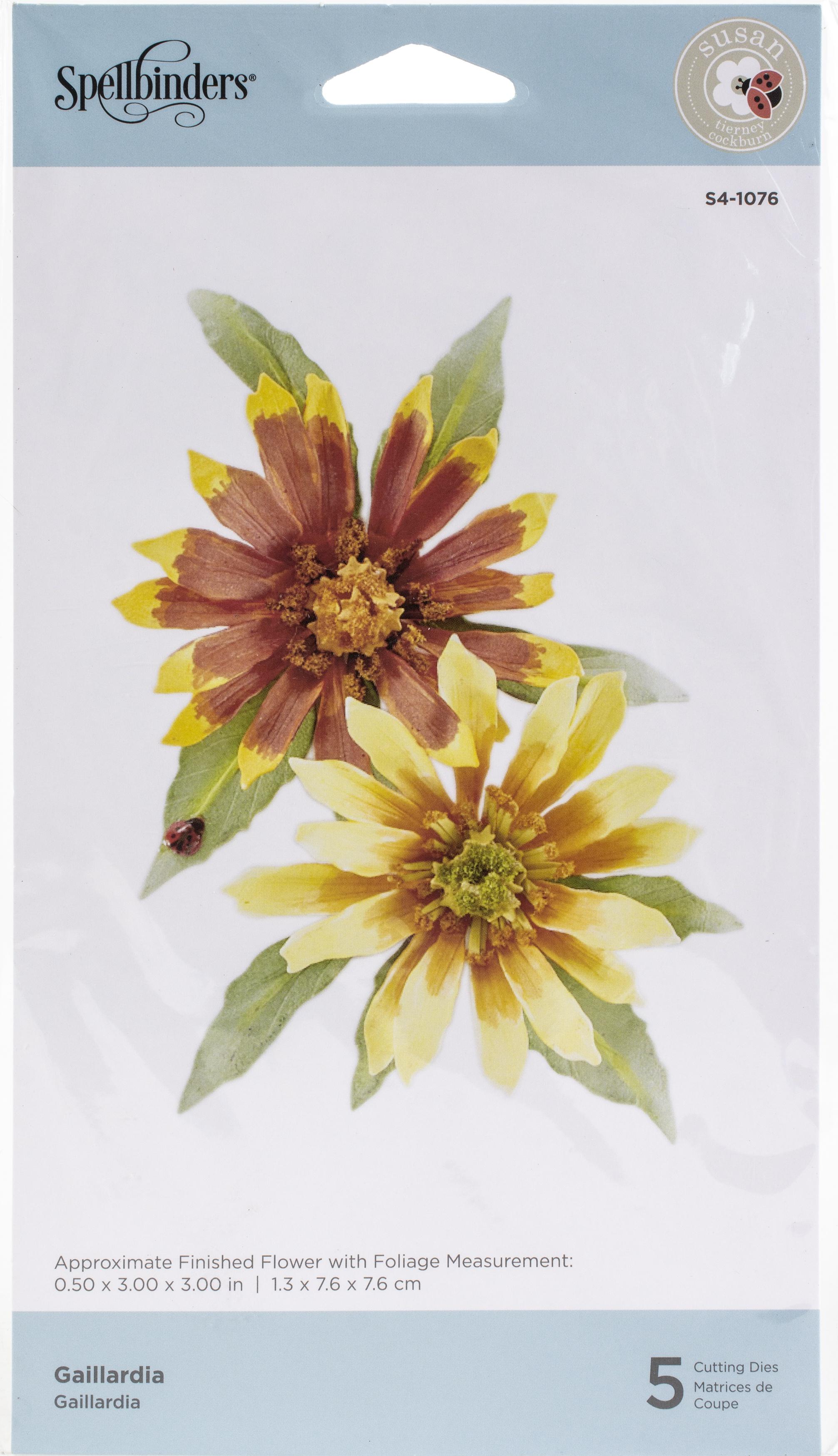 Spellbinders Etched Dies By Susan Tierney-Cockburn-Gaillardia- Susan's Autumn Fl...