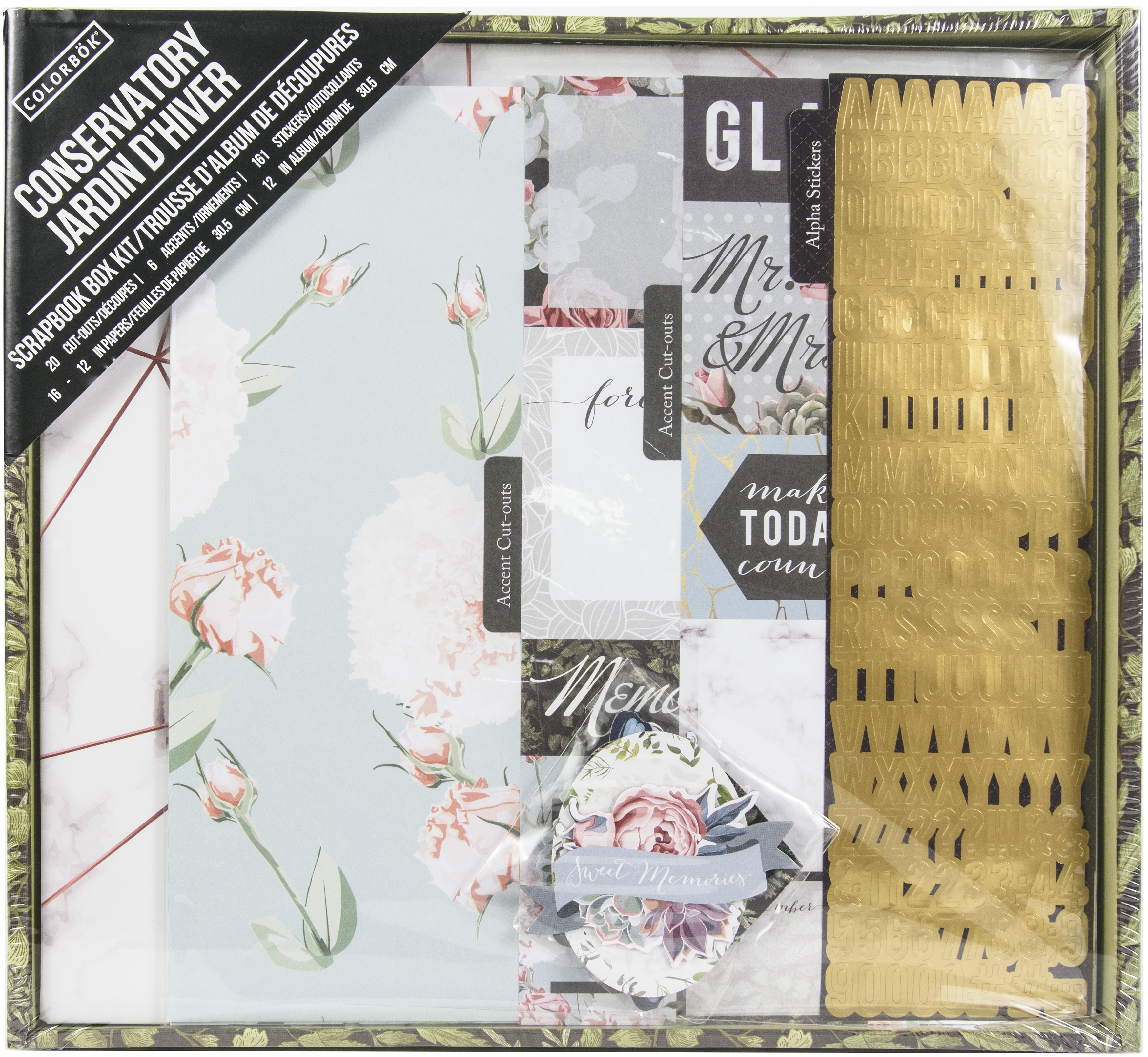 Colorbok Scrapbook Box Kit-Conservatory