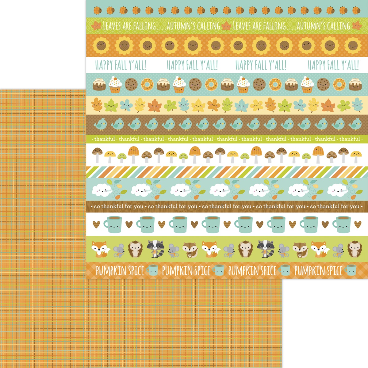 COLLECTION: Pumpkin Spice Double-Sided Cardstock 12X12