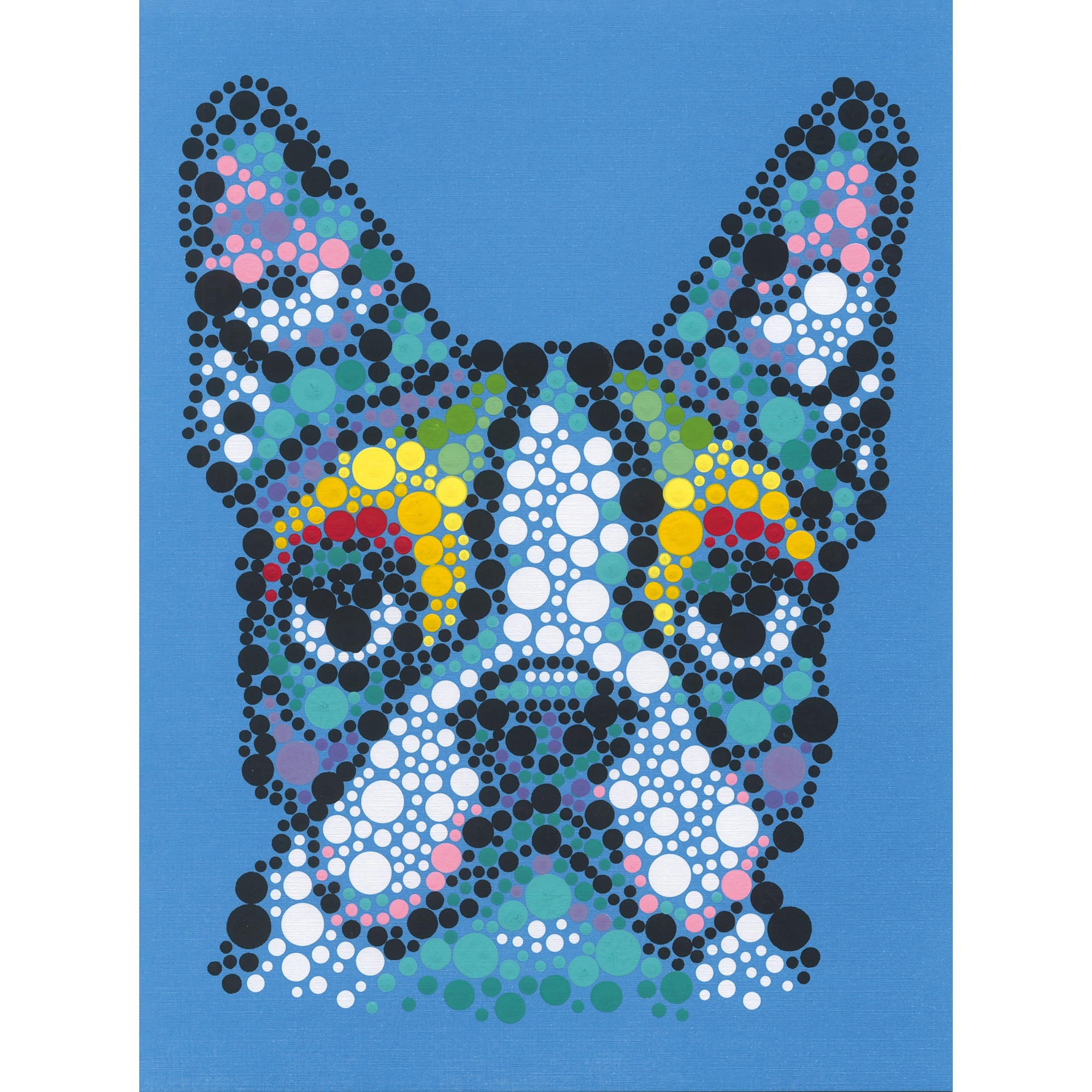 Dimensions Paint By Number Kit 9X12-Colorful Dog Dots