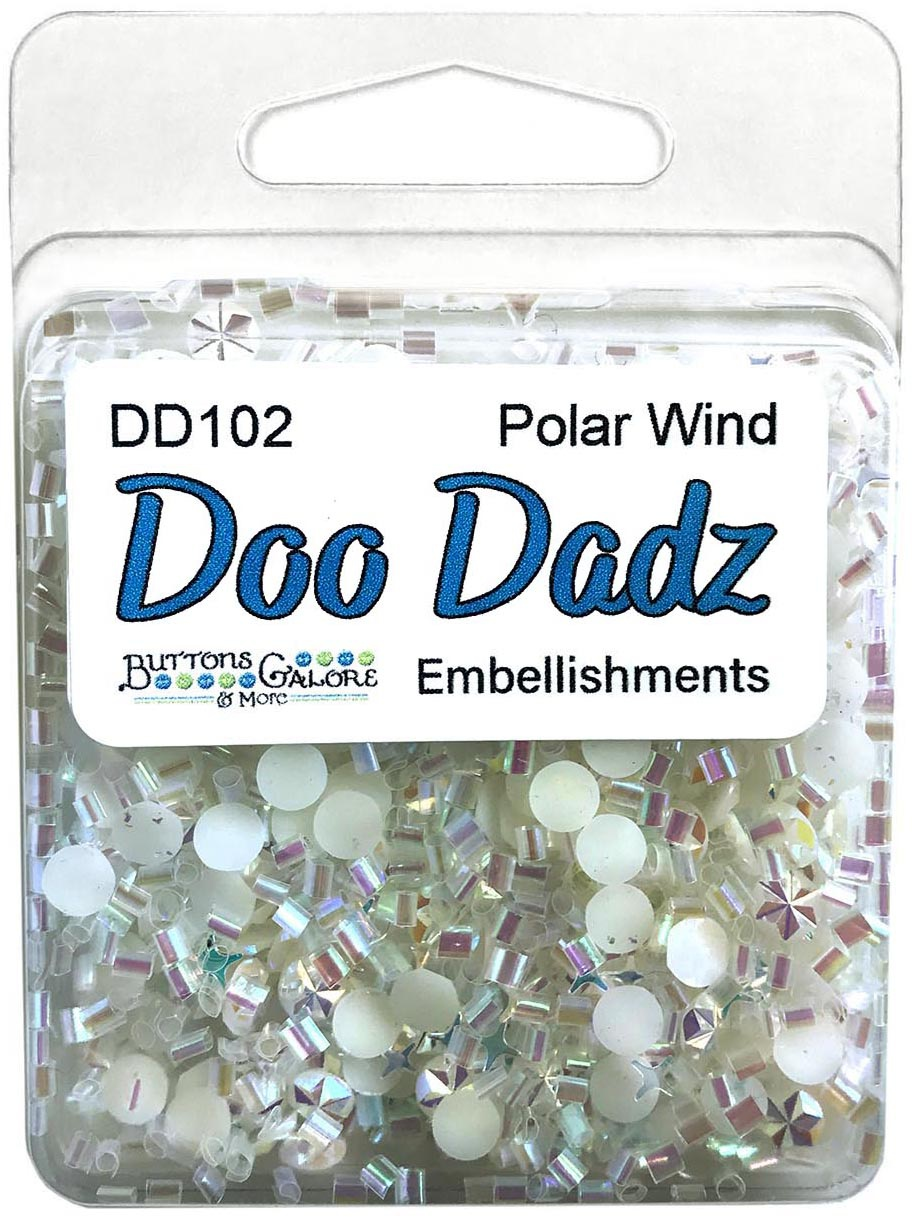 Buttons Galore Doodadz Embellishments-Polar Wind