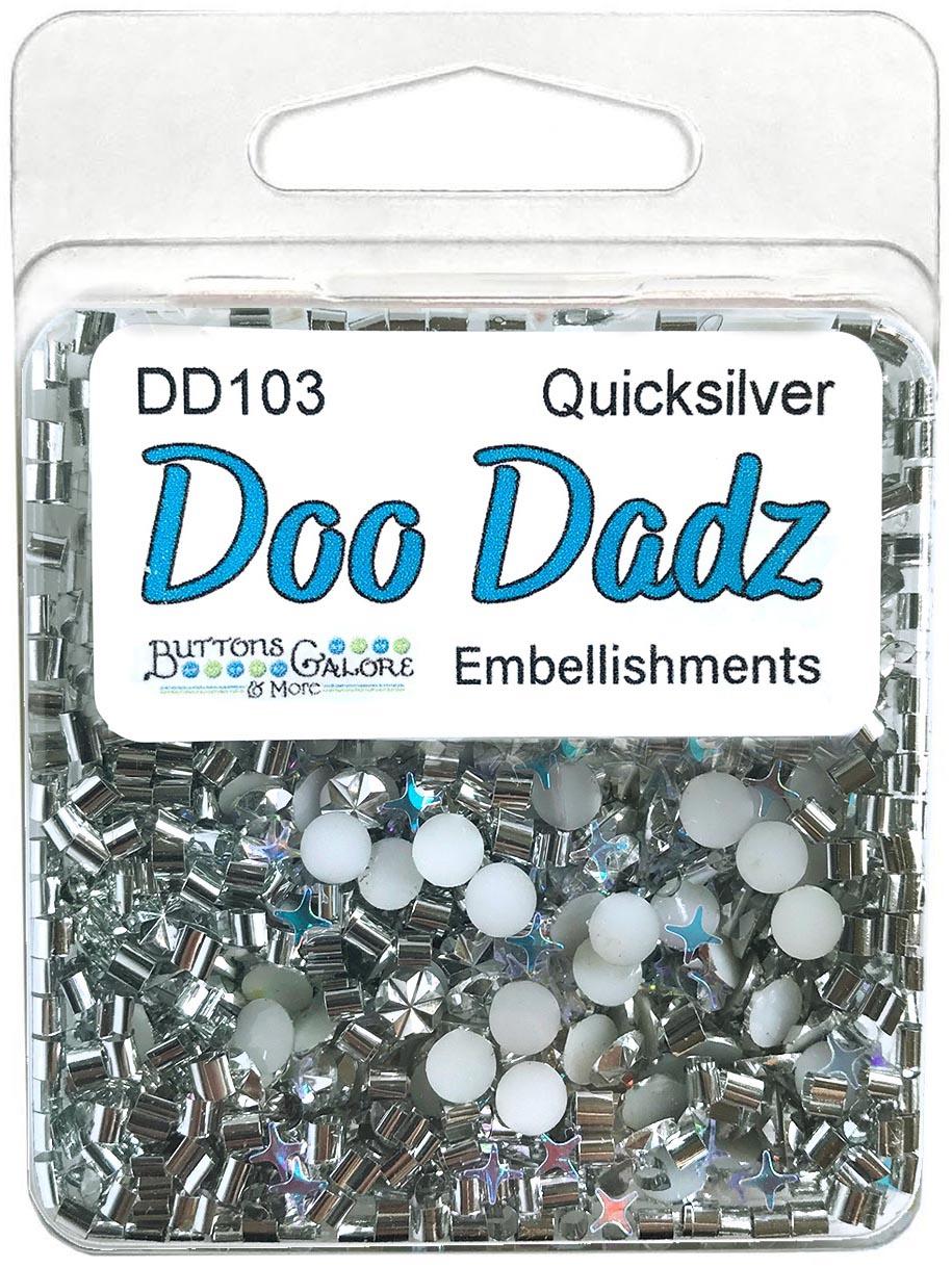 Buttons Galore Doodadz Embellishments-Quicksilver