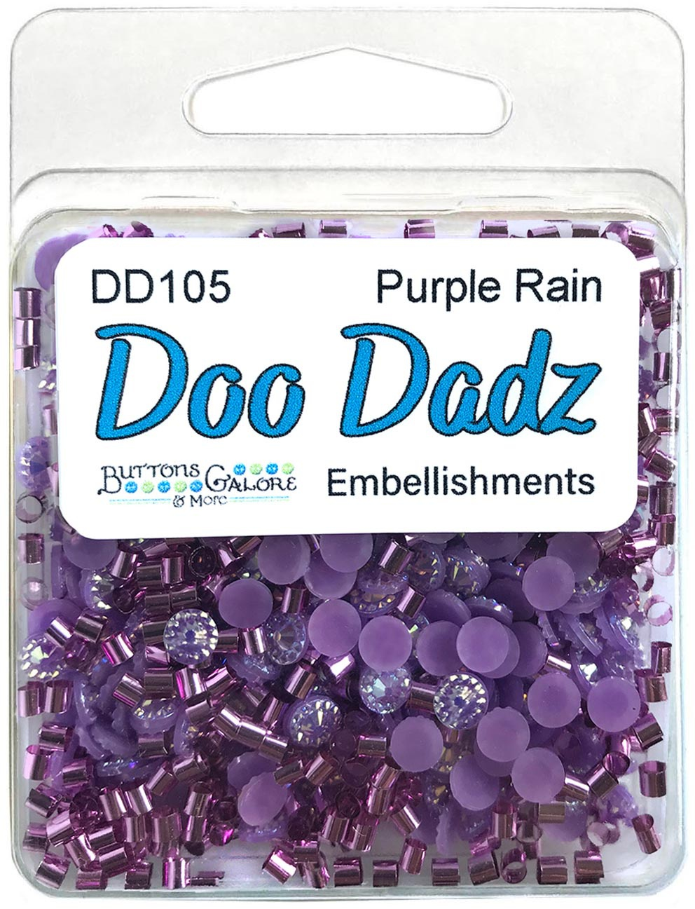 Buttons Galore Doodadz Embellishments-Purple Rain