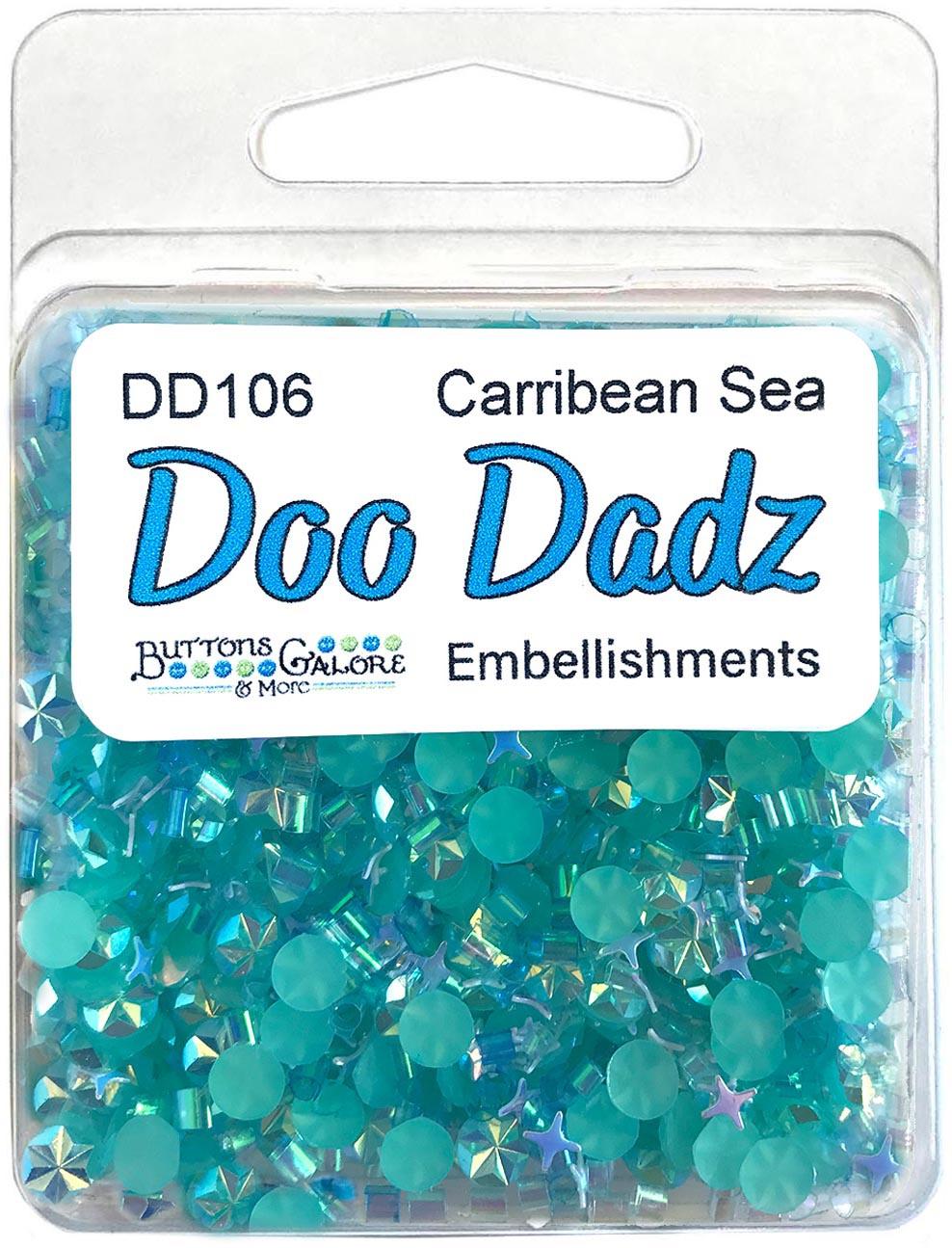 Buttons Galore Doodadz Embellishments-Caribbean Sea