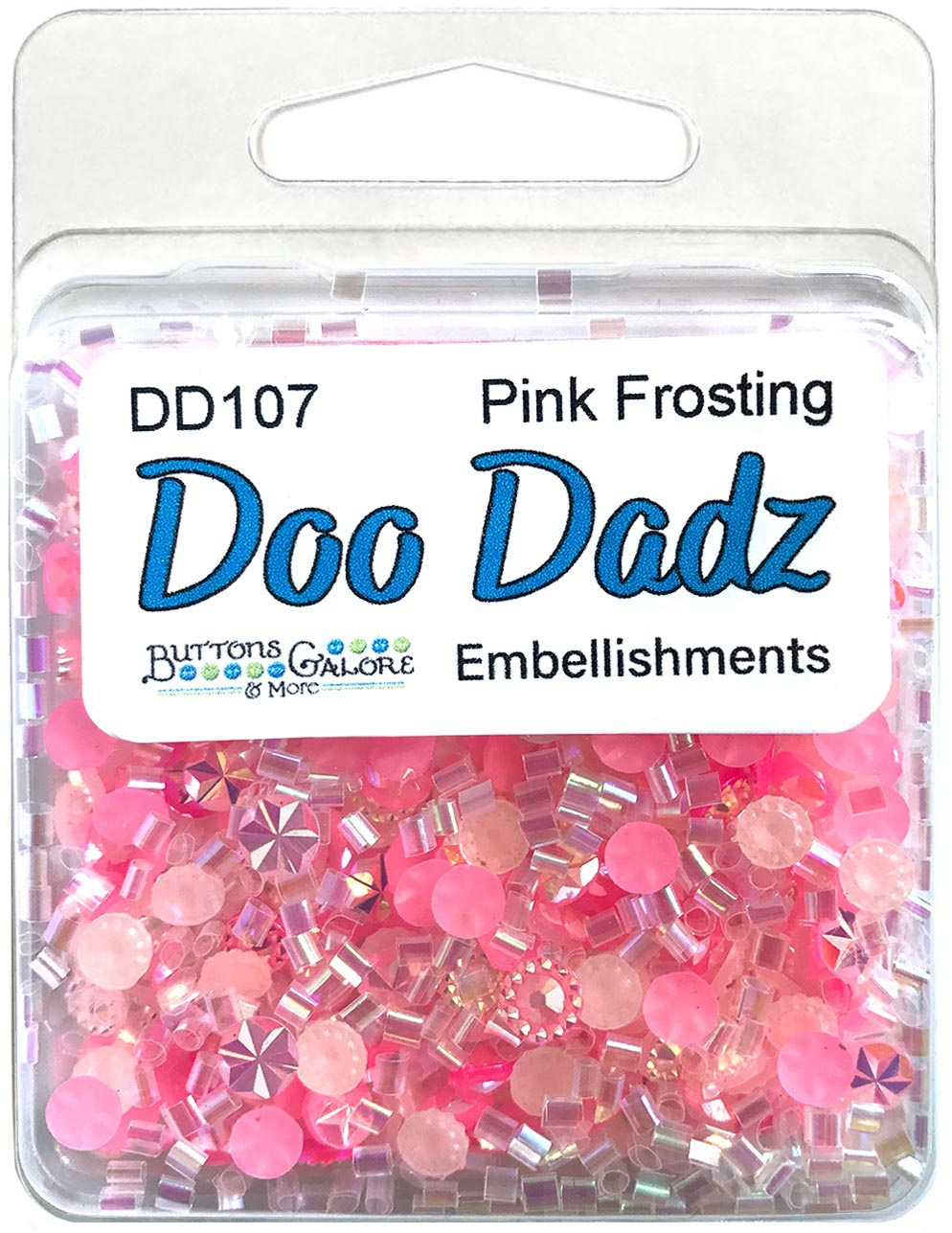 Buttons Galore Doodadz Embellishments-Pink Frosting