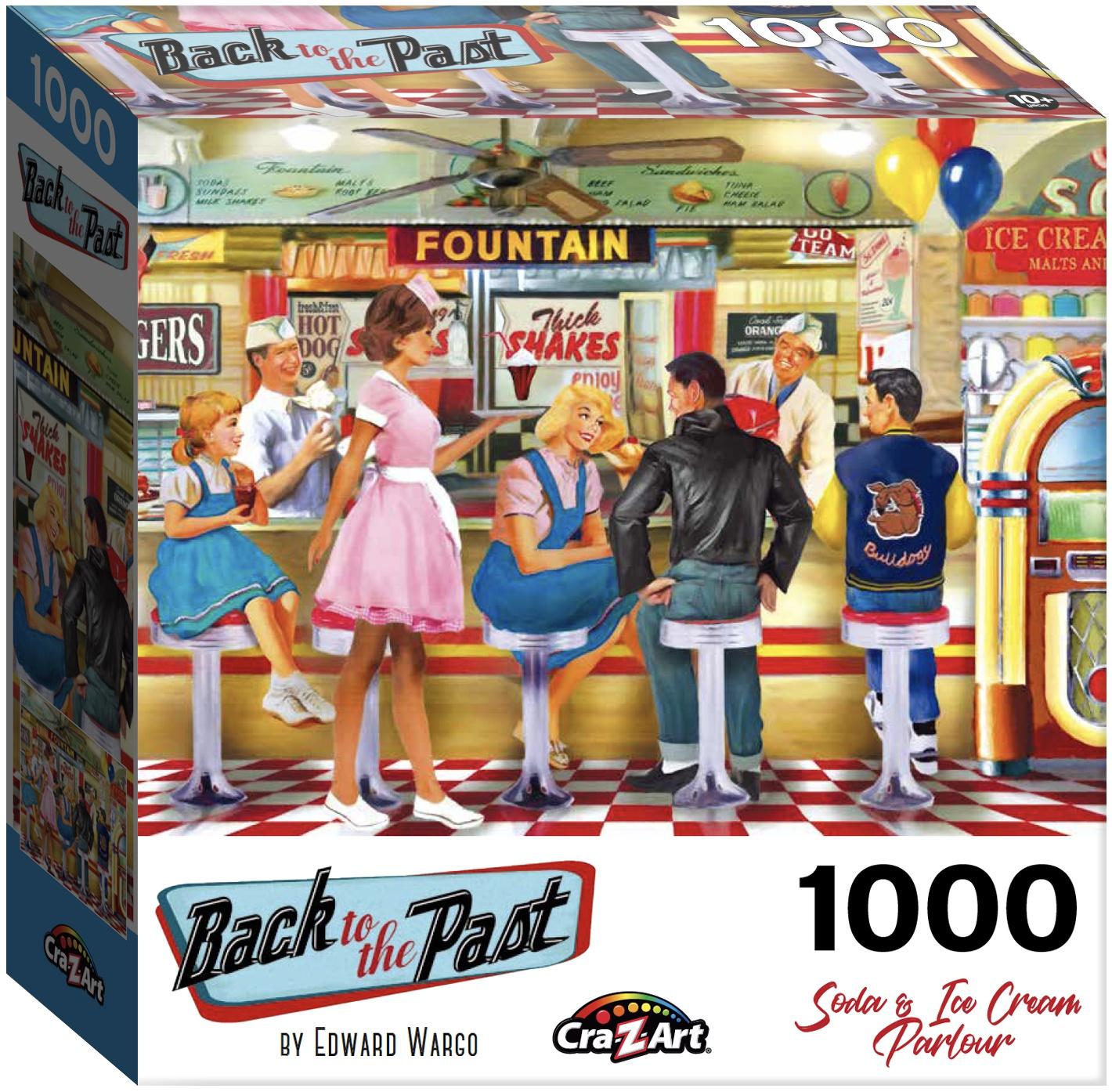 Jigsaw Puzzle 1000 Pieces - Soda & Ice Cream Parlor