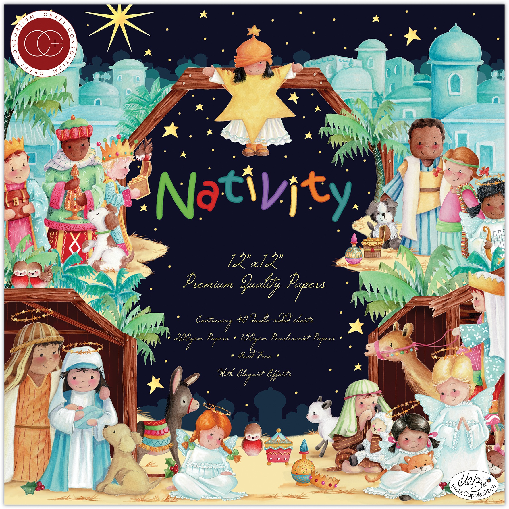 Craft Consortium Double-Sided Paper Pad 12X12 40/Pkg-Nativity