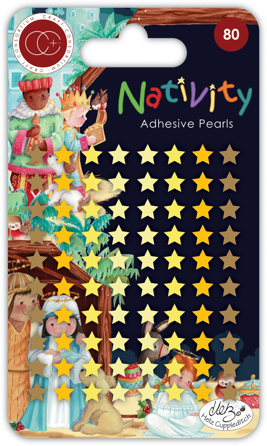Craft Consortium Nativity - Star Adhesive Pearls 80/Pkg
