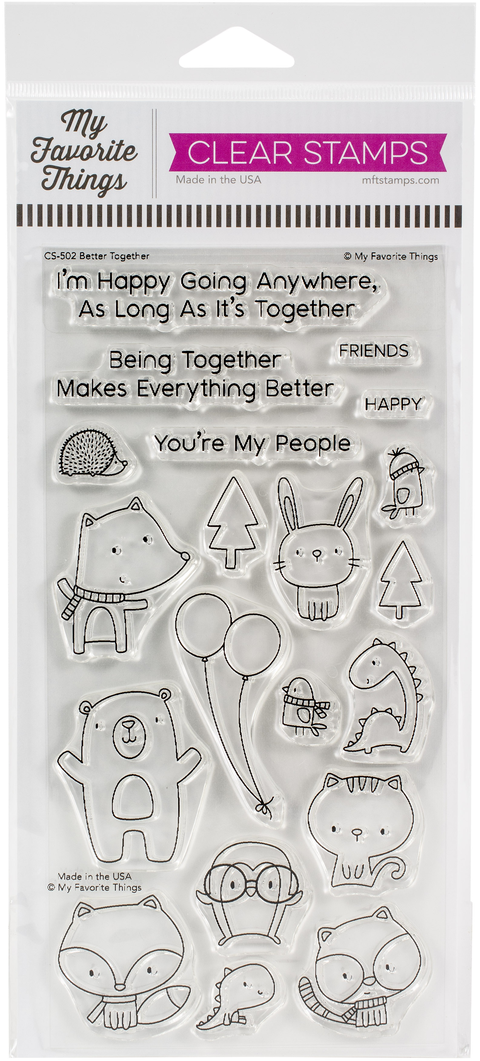 My Favorite Things Clearly Sentimental Stamps 4X8-Better Together