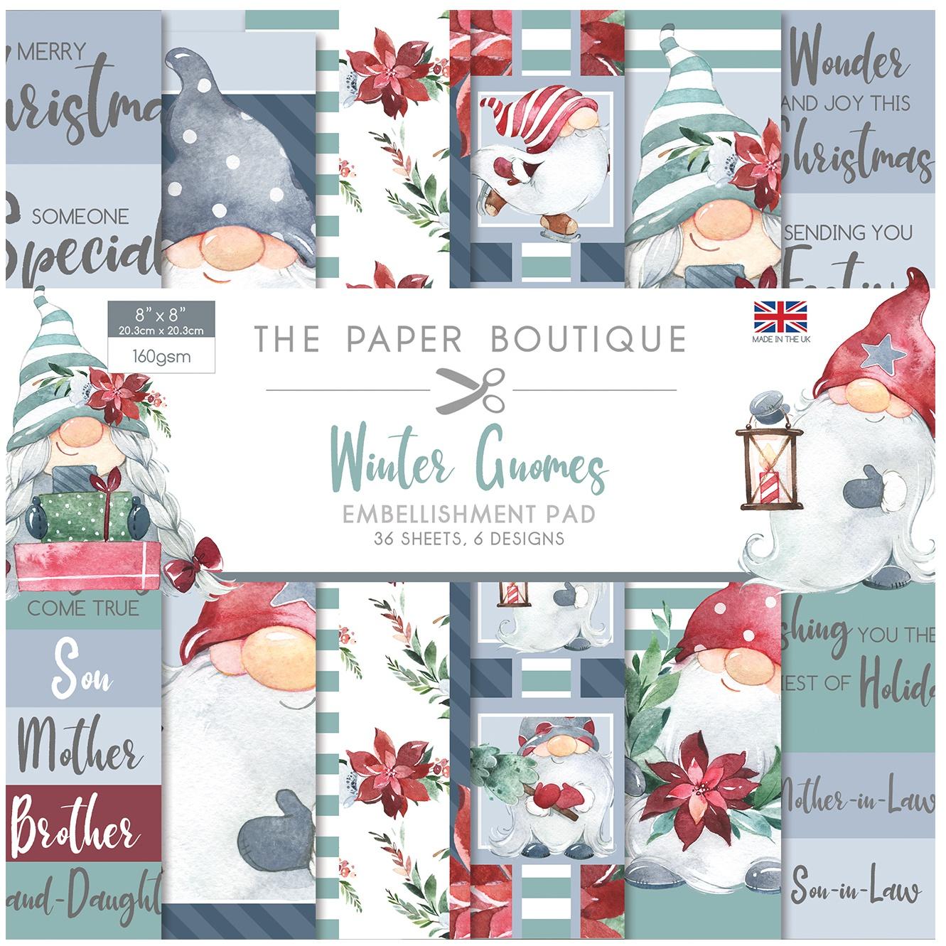 THE PAPER BOUTIQUE 8X8 PAD: WINTER GNOMES