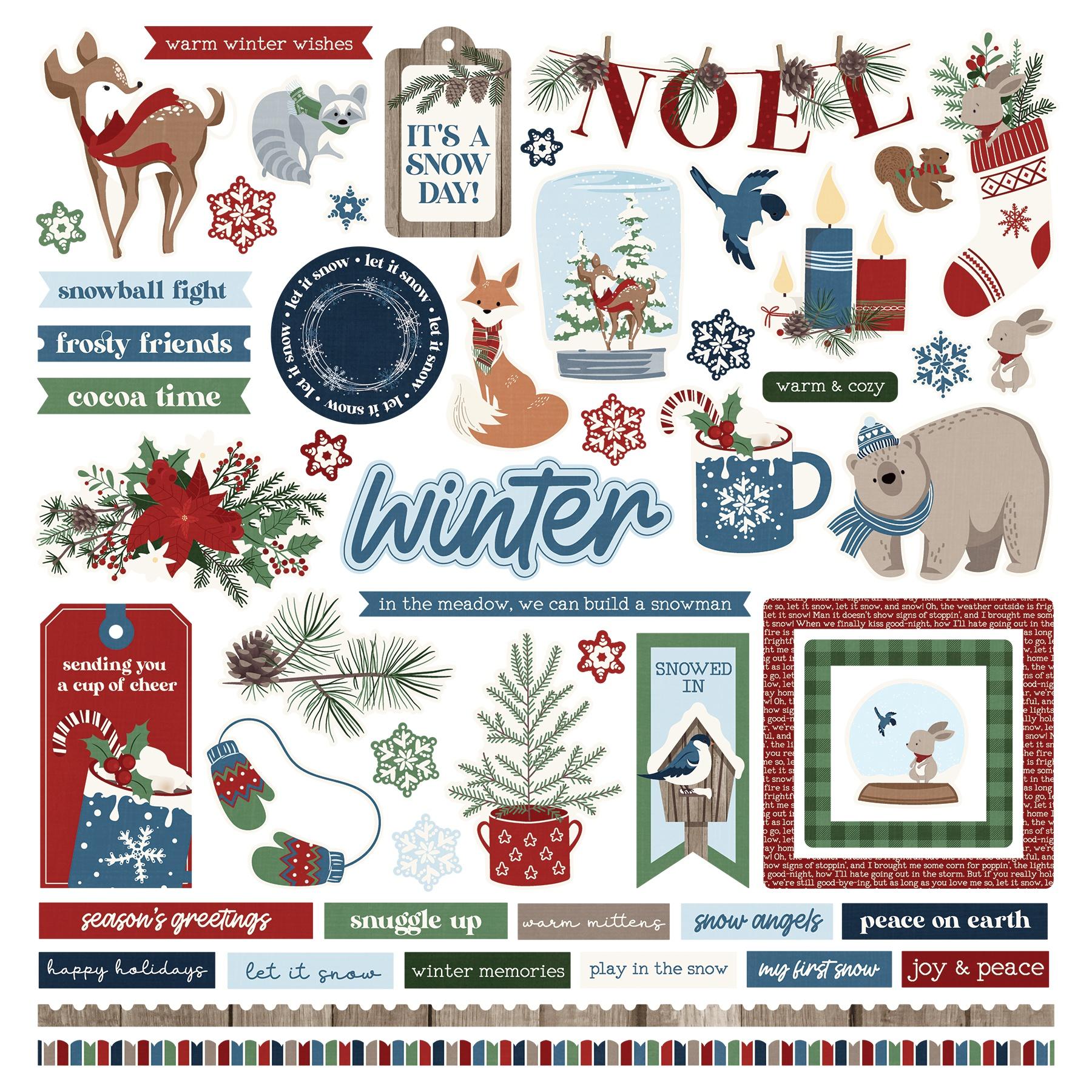 Winter Memories Stickers 12X12-Elements