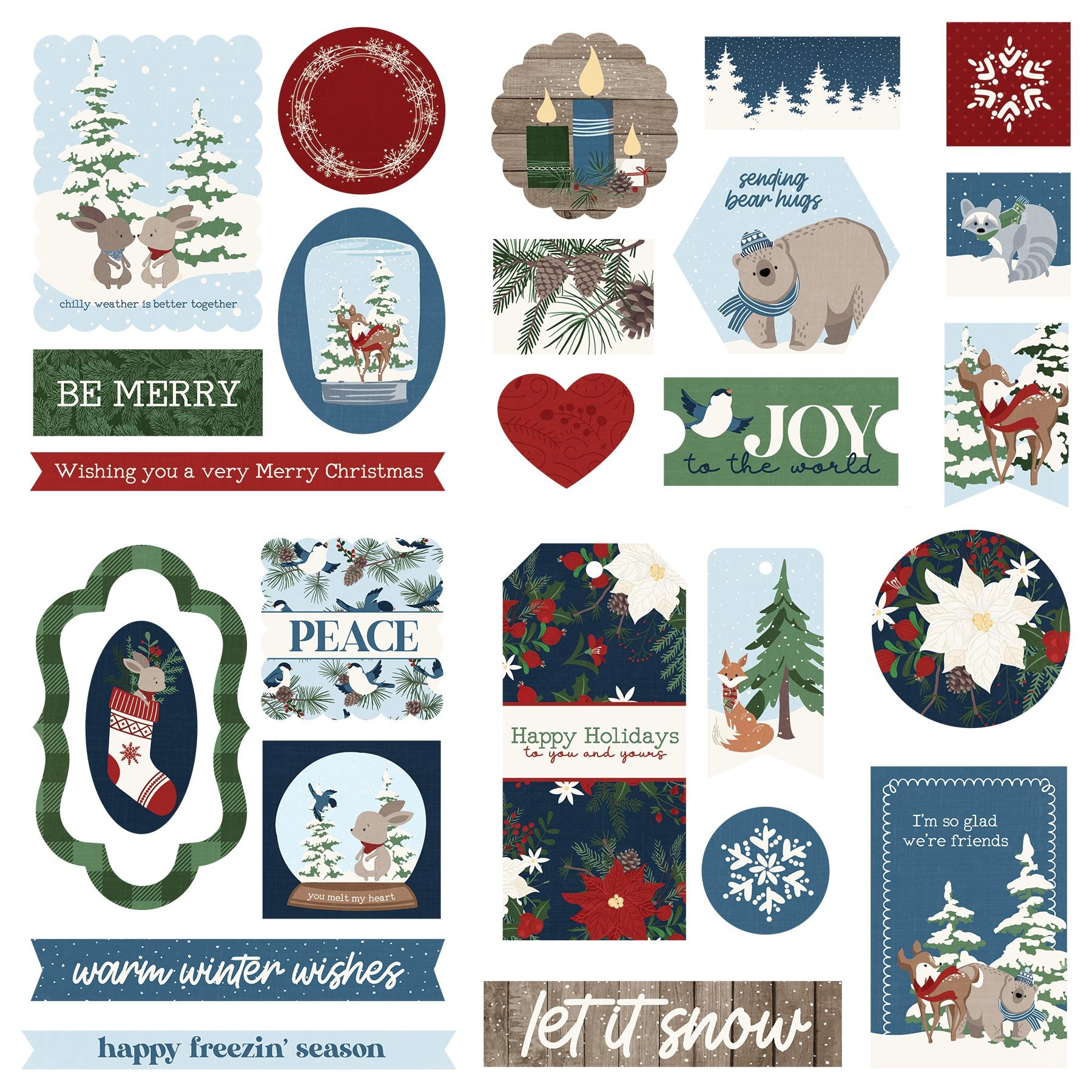 Winter Memories Ephemera Cardstock Die-Cuts-