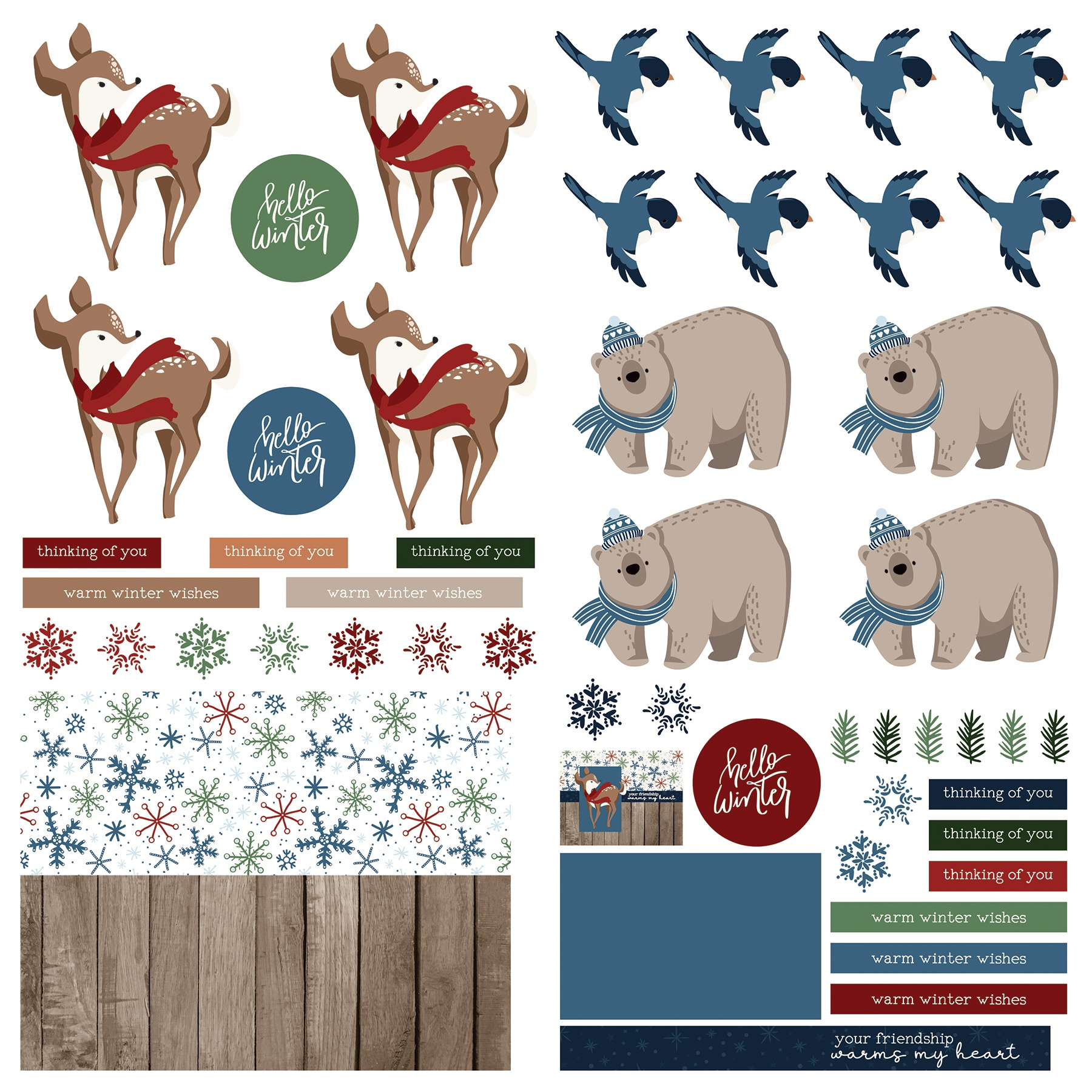 Winter Memories Cardstock Die-Cut Sheet 12X12-