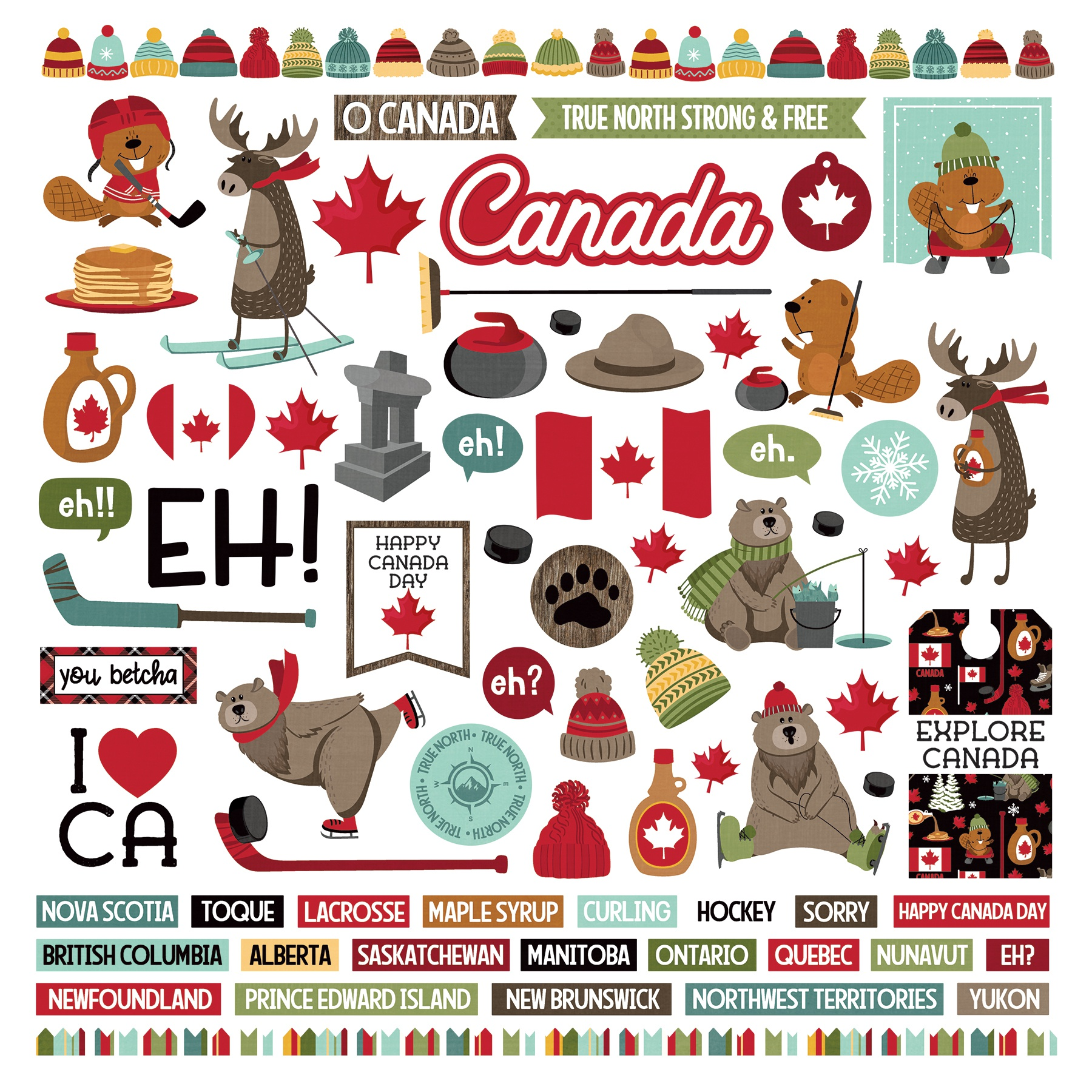 PhotoPlay O Canada 2 - 12x12 Element Stickers