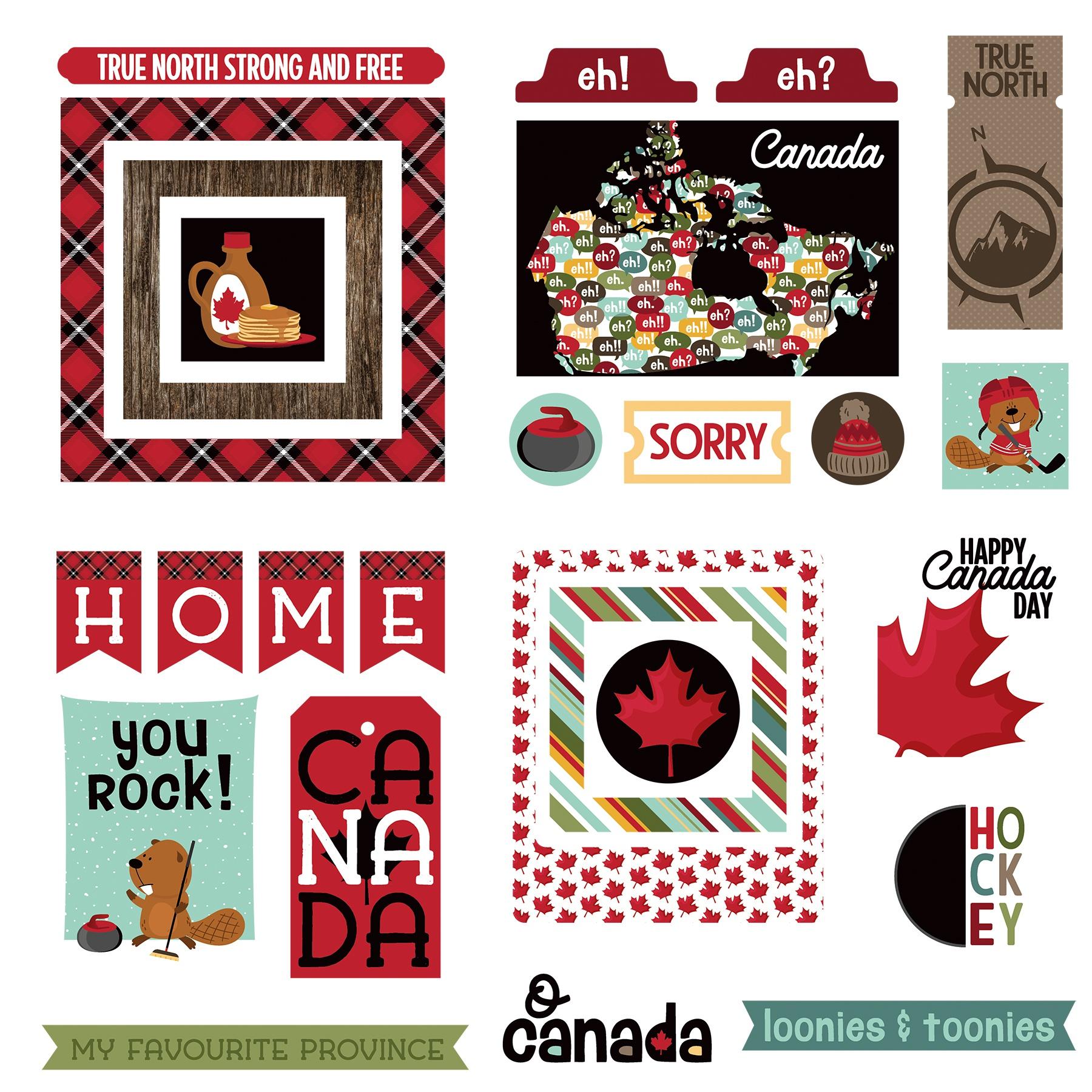O Canada 2 Ephemera Cardstock Die-Cuts-