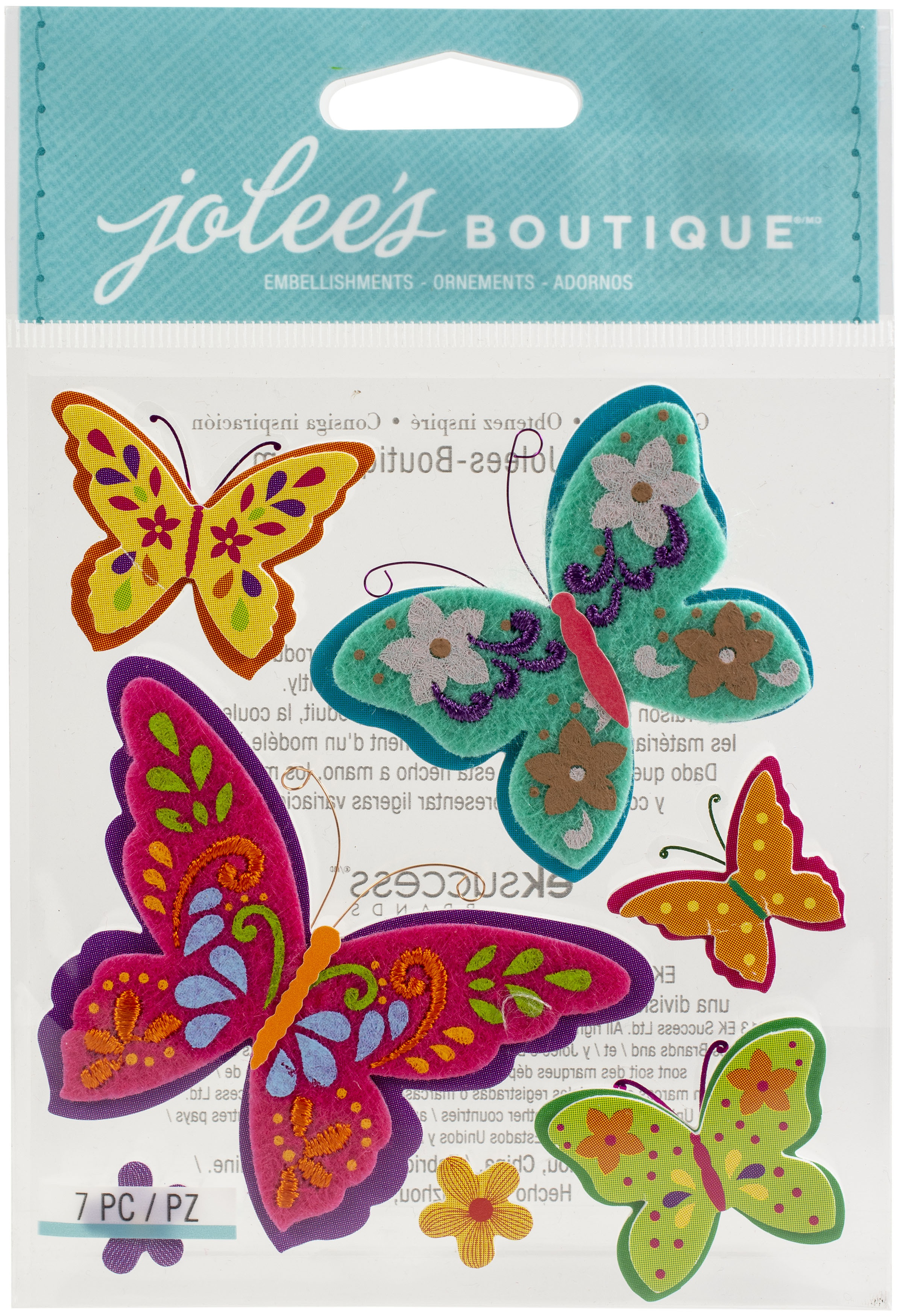 Jolee's Boutique Themed Embellishments-Colorful Butterflies