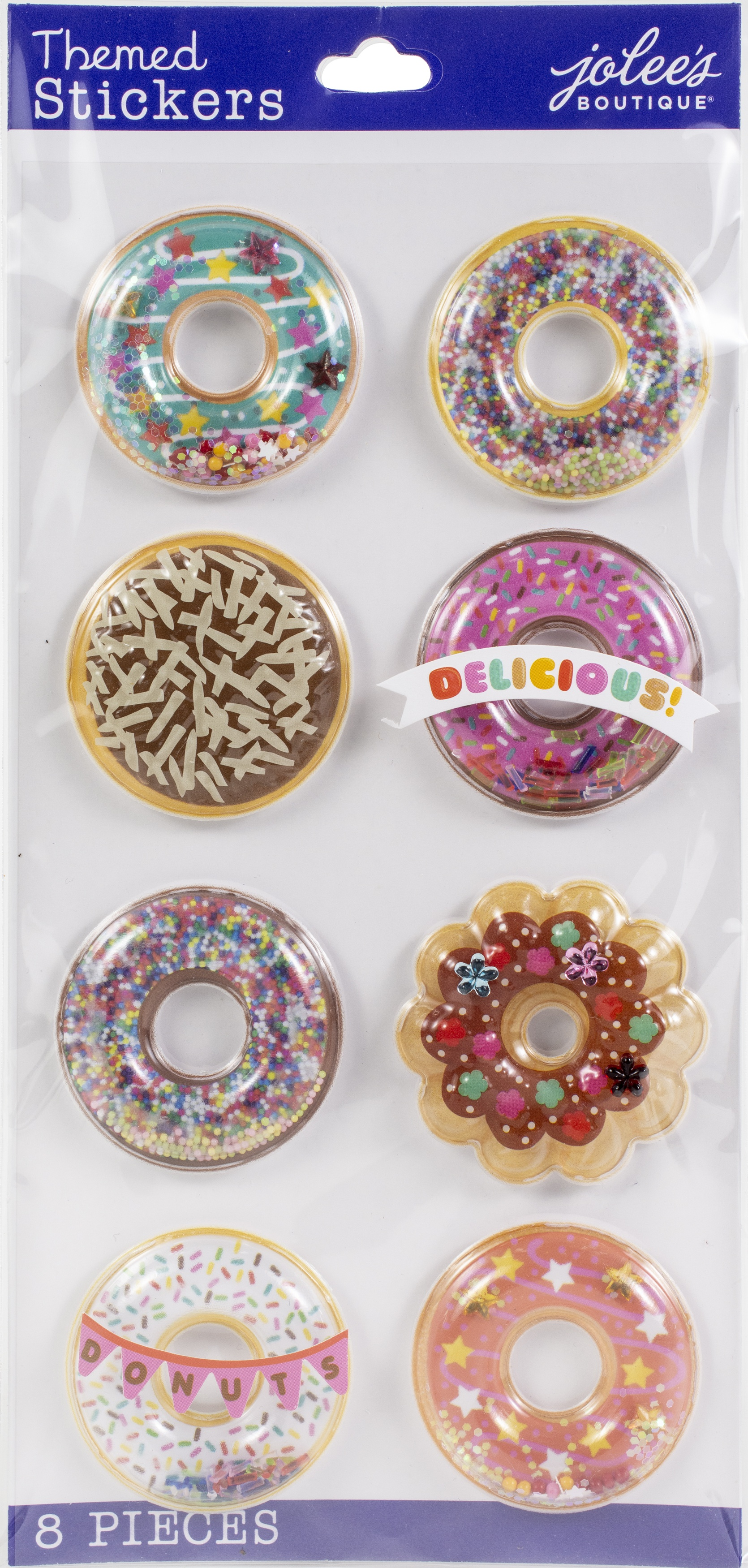 Jolee's Boutique Themed Embellishments-Donut Snow Globes