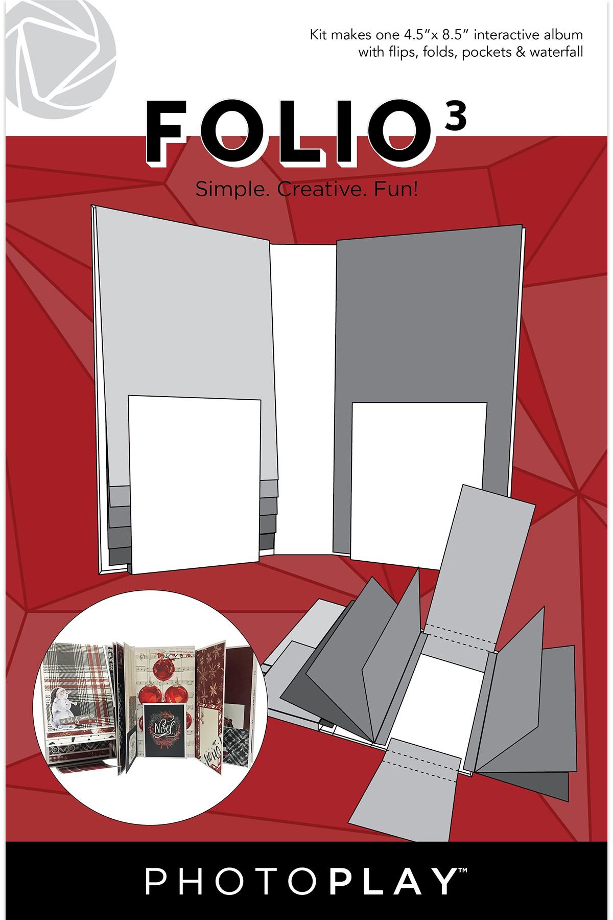 PhotoPlay Folio 3 4.5X8.5-White Maker Series