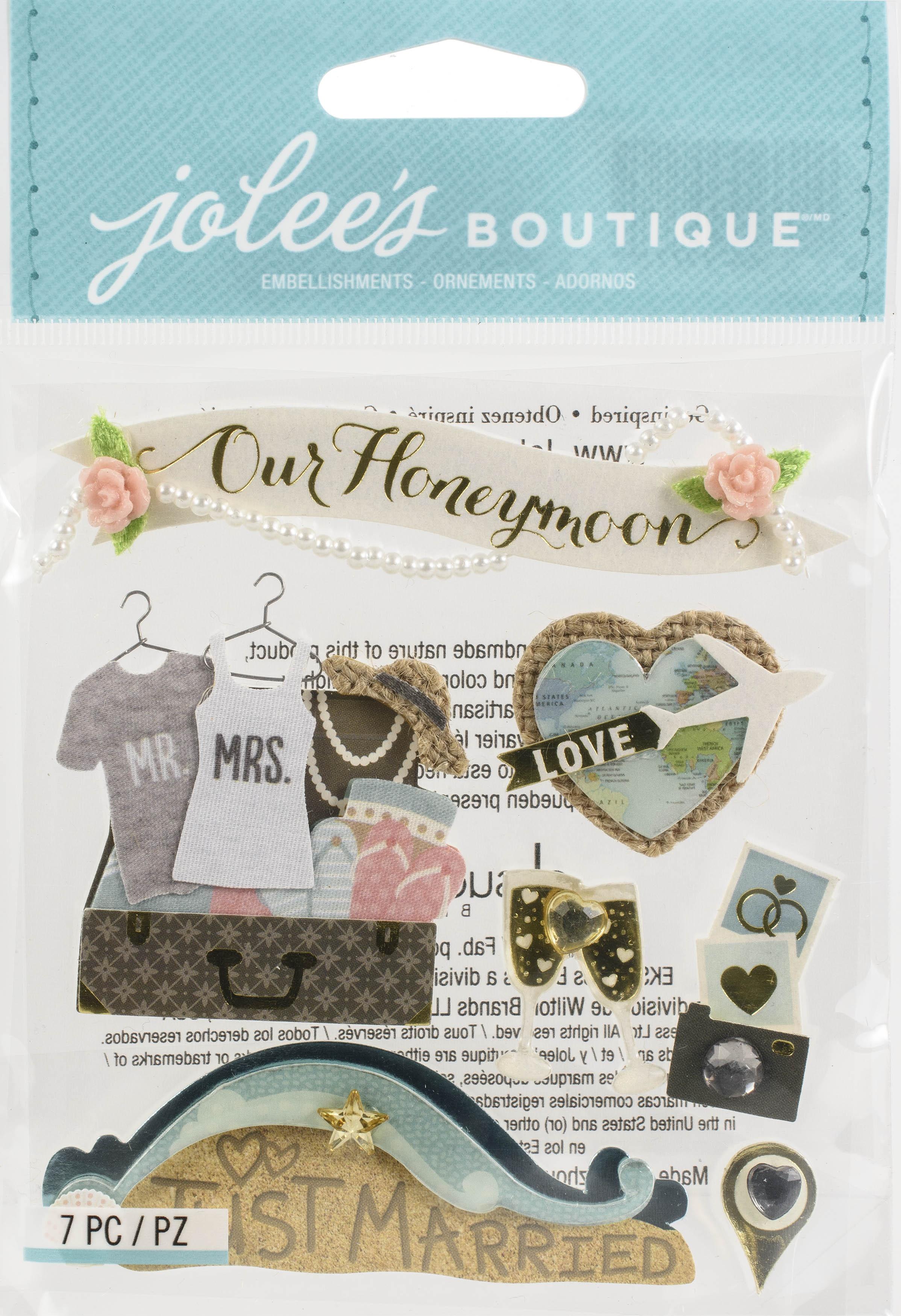 Jolee's Boutique Themed Embellishments-Honeymoon