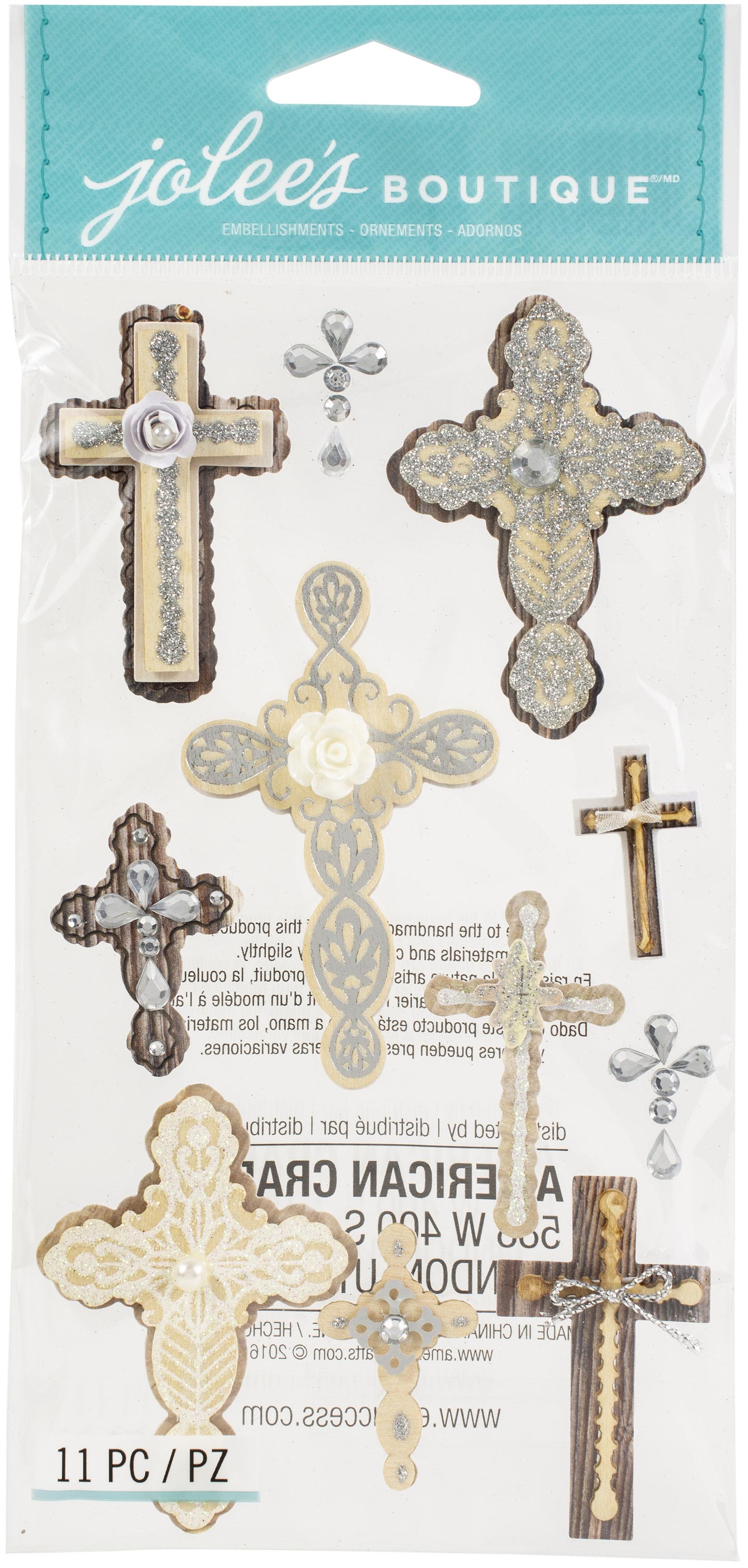 Jolee's Boutique Themed Embellishments-Inspirational Crosses