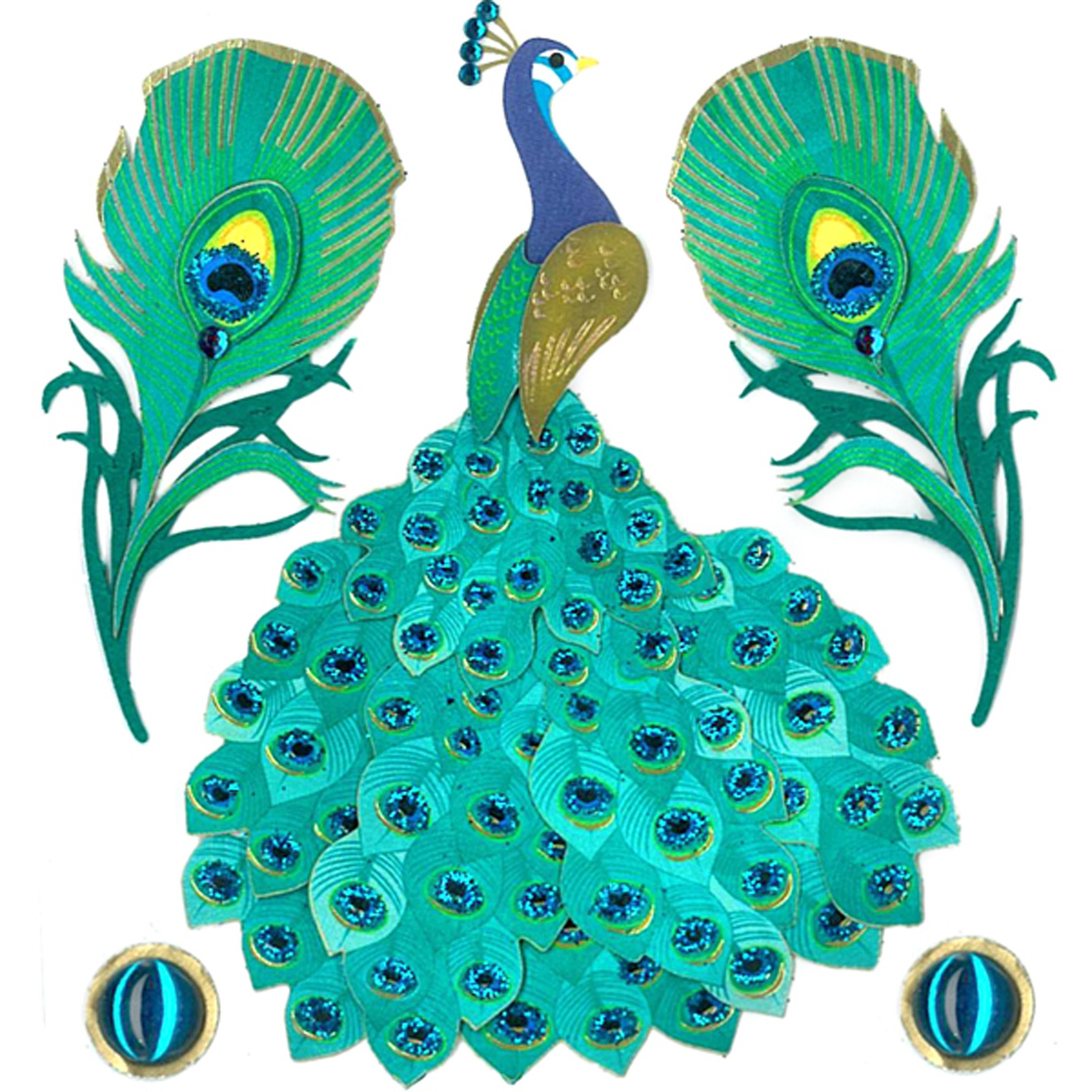 Jolee's Boutique Themed Embellishment-Peacock