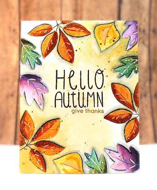 Penny Black Clear Stamps-Falling Leaves