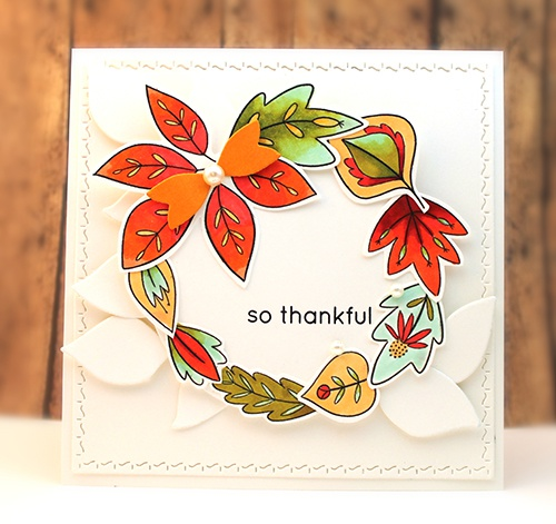 Penny Black Creative Dies-Falling Leaves Cut Out