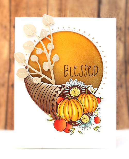 Penny Black Creative Dies-Harvest Wishes Cut Out