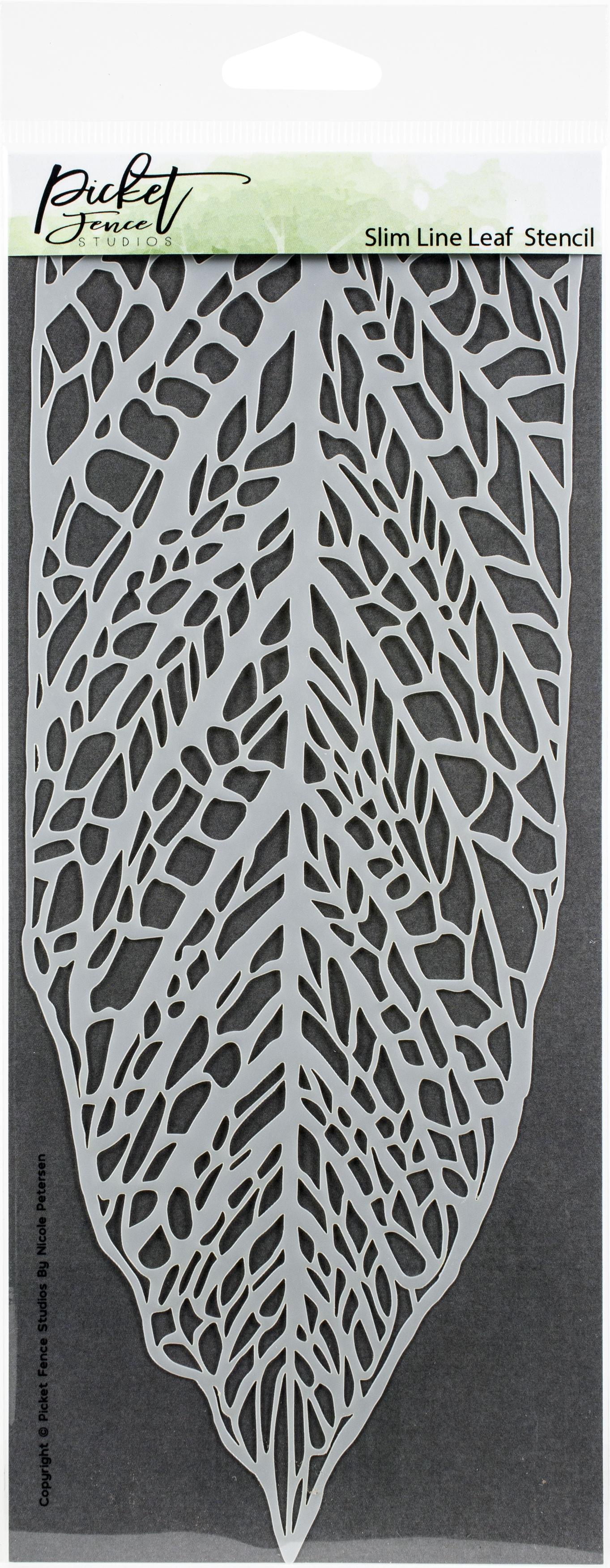 Picket Fence Studios Stencil 4X8-Slim Line Leaf