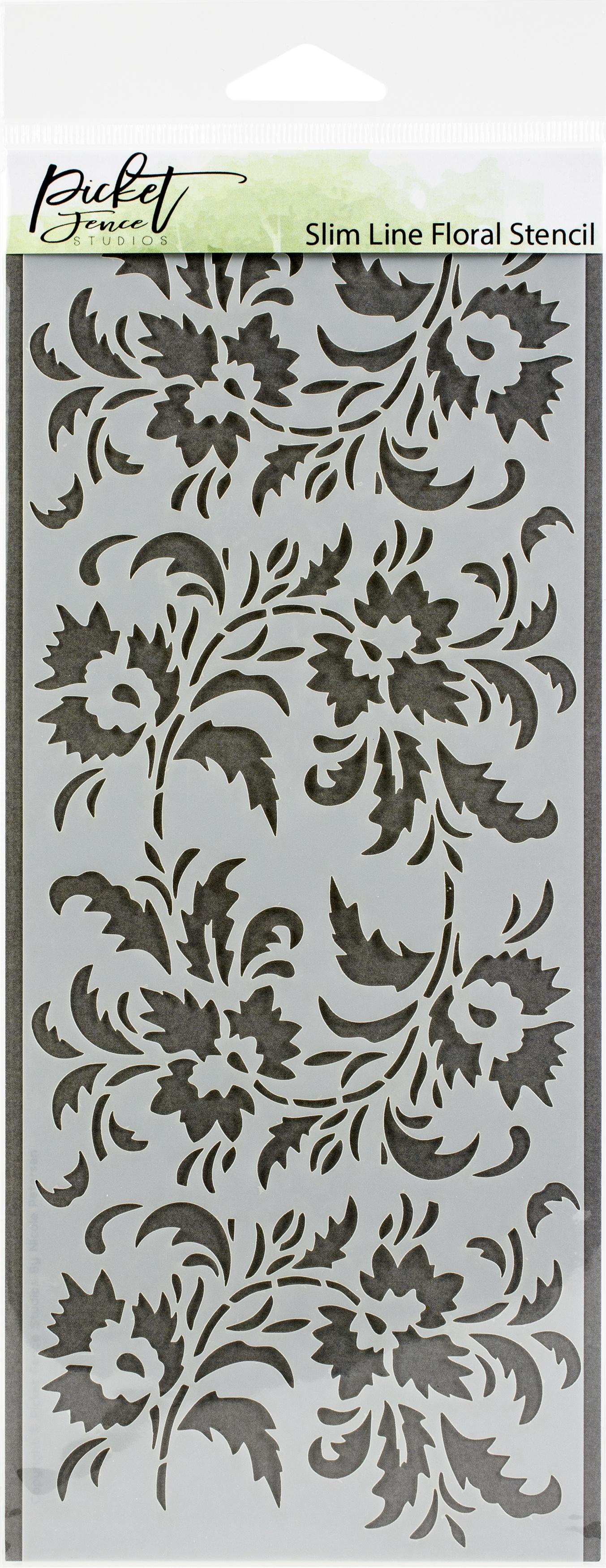 Picket Fence Studios Stencil 4X8-Slim Line Floral