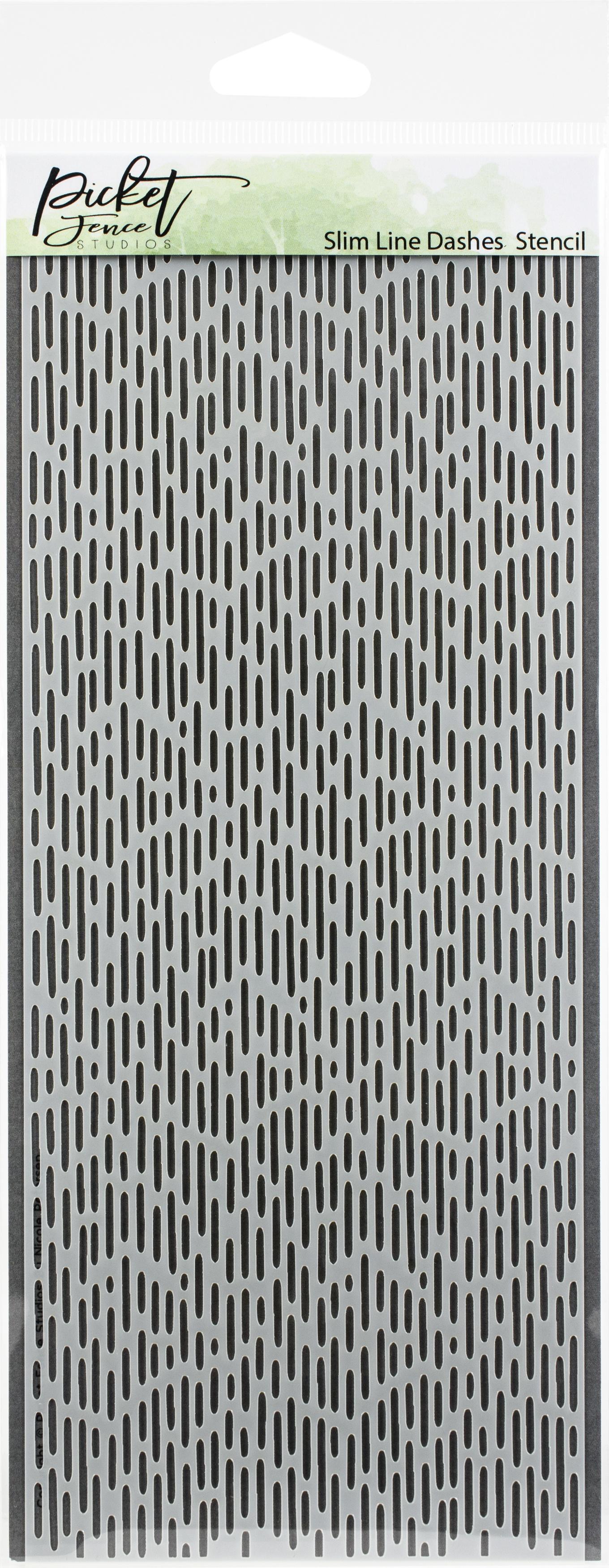 Picket Fence Studios Stencil 4X8-Slim Line Dashes