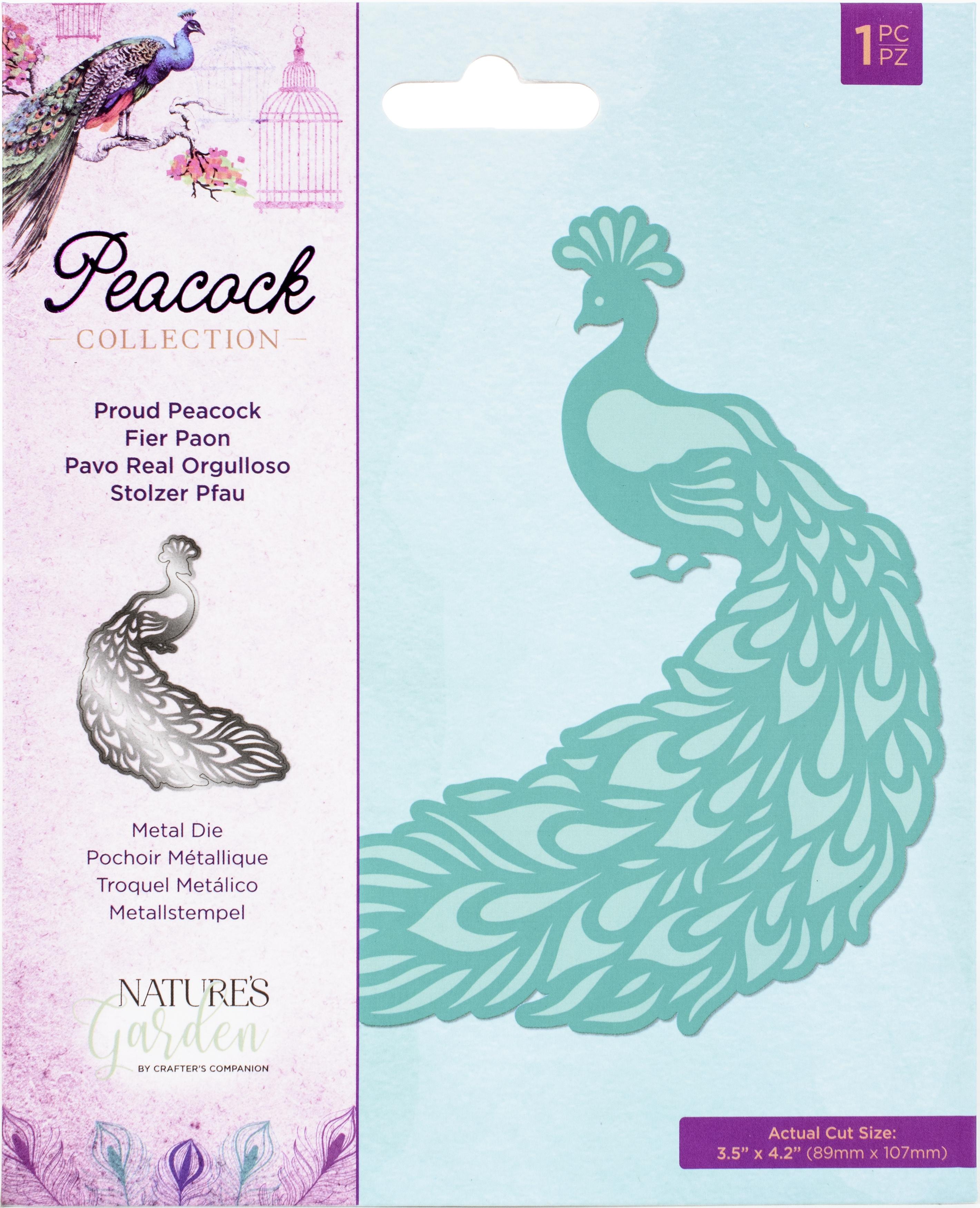 Nature's Garden Peacock Metal Die-Proud Peacock