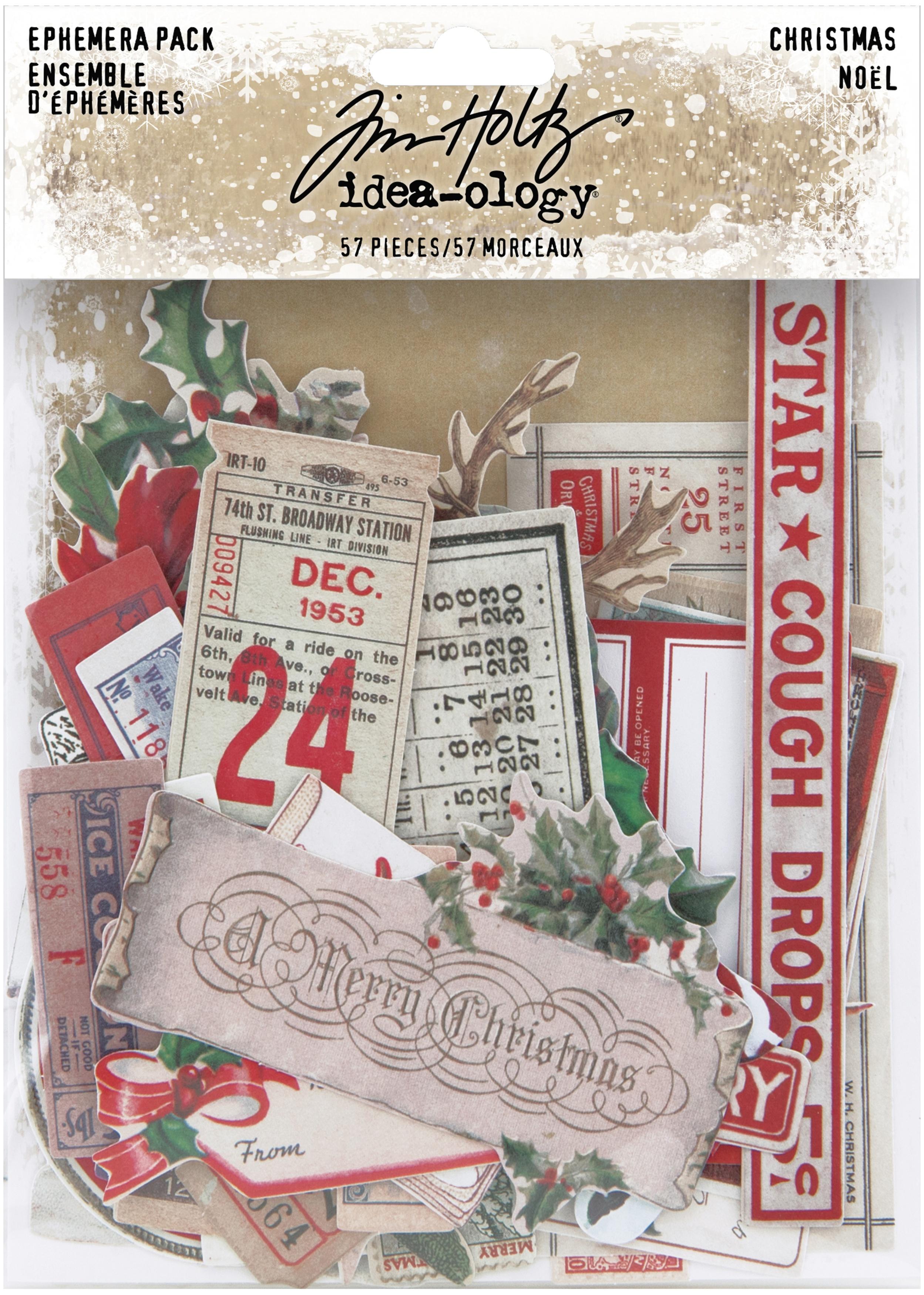 Idea-Ology Ephemera Pack 57/Pkg-Christmas