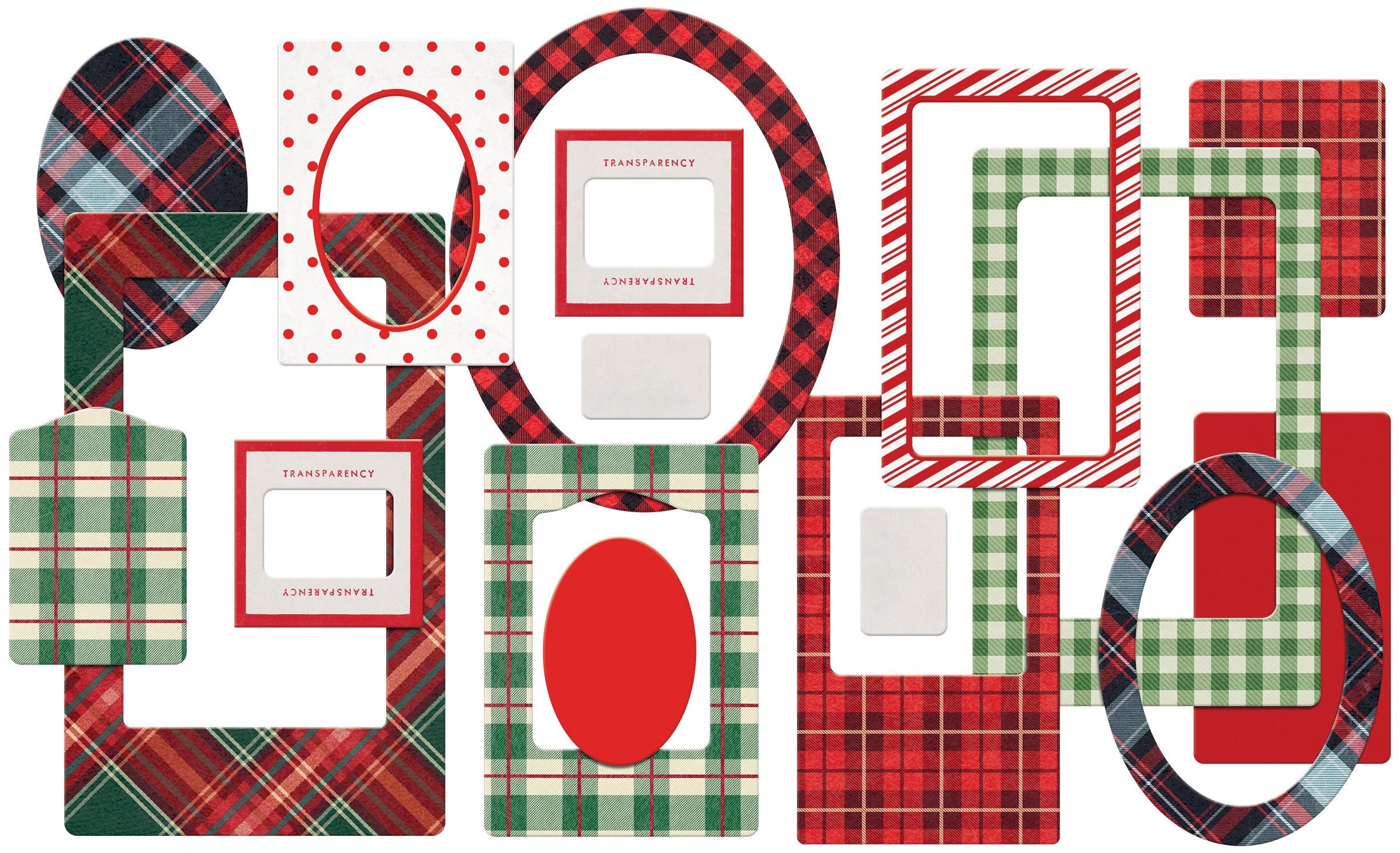 Tim Holtz Idea-Ology Chipboard Baseboards 17/Pkg-Christmas