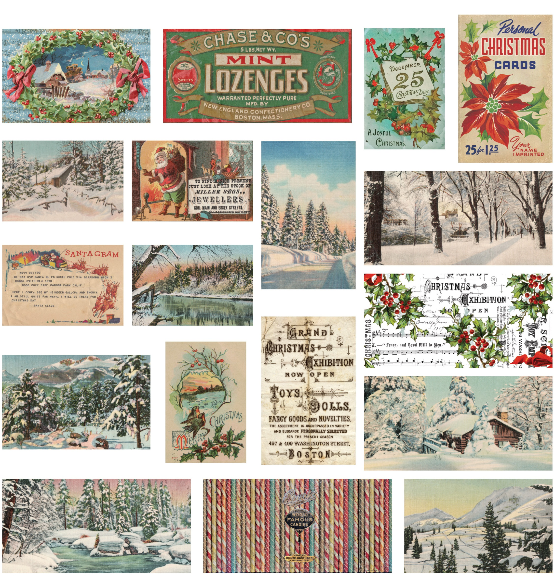 Idea-Ology Vellum Scenes 18/Pkg-Christmas