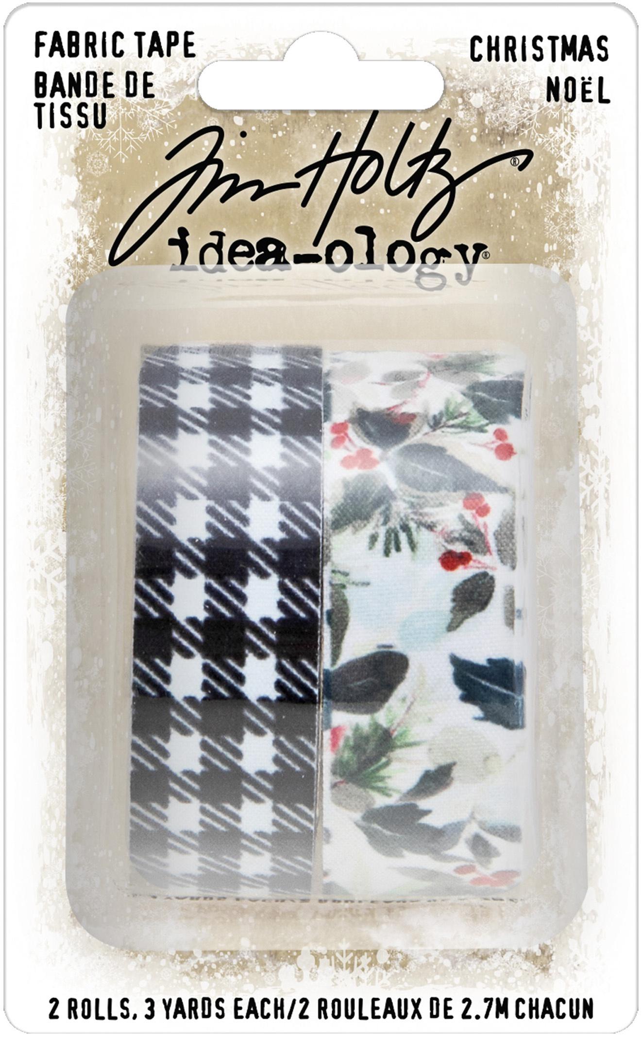 Idea-Ology Fabric Tape .75X3yd 2/Pkg-Christmas