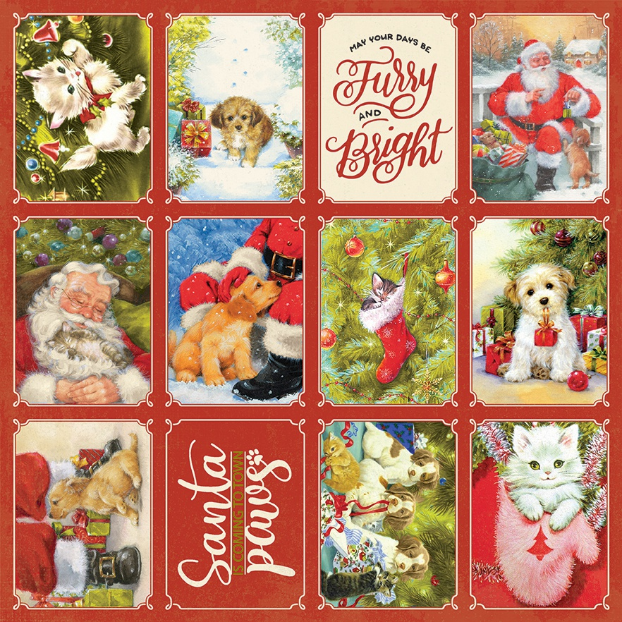 Christmas Greetings Double-Sided Cardstock 12X12