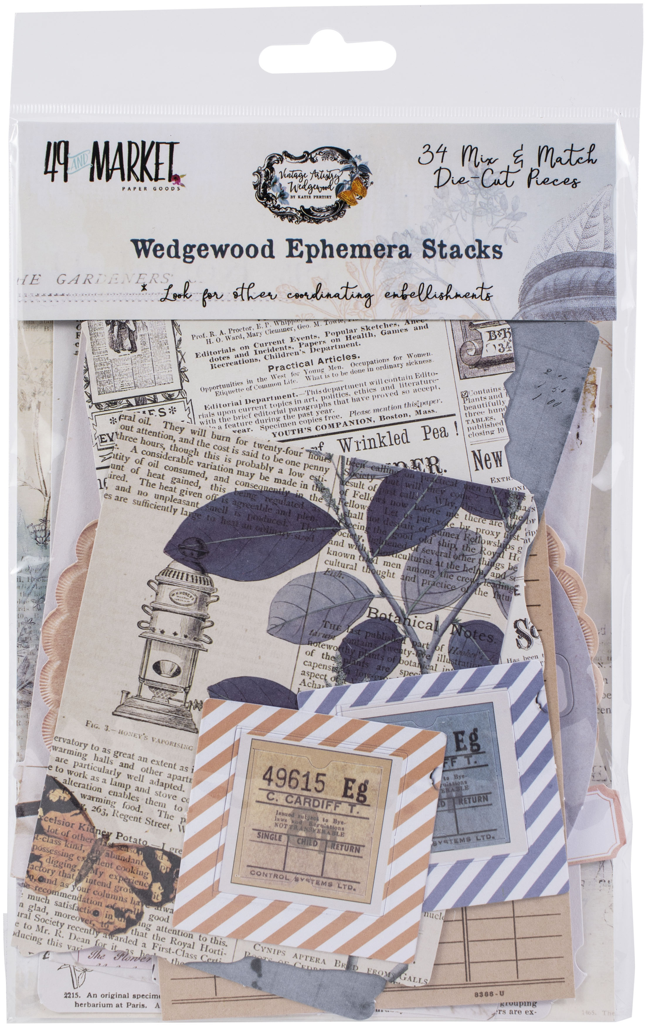 Vintage Artistry Wedgewood Collage Stack-