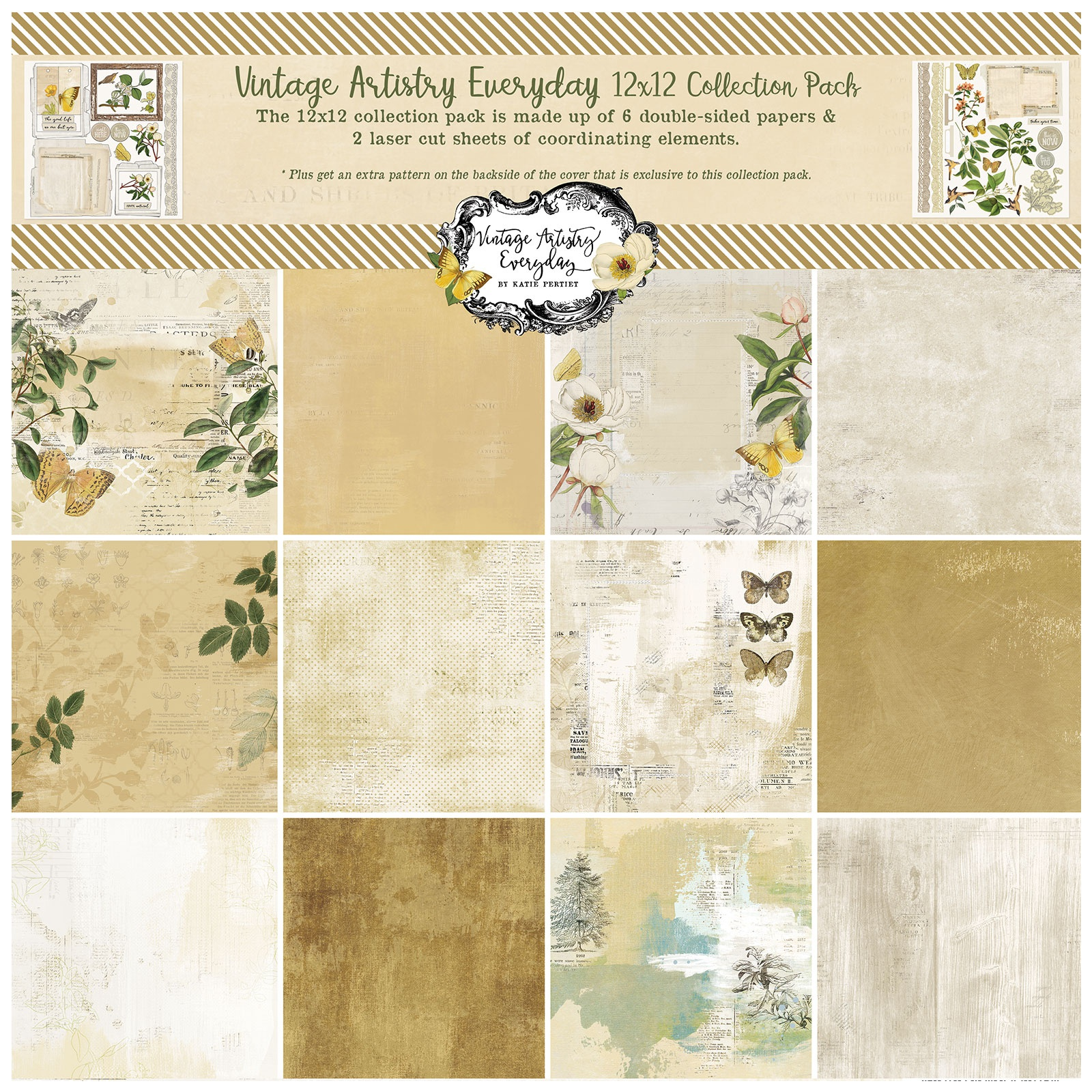 49 And Market - Vintage Artistry Everyday - 12x12 Collection Pack
