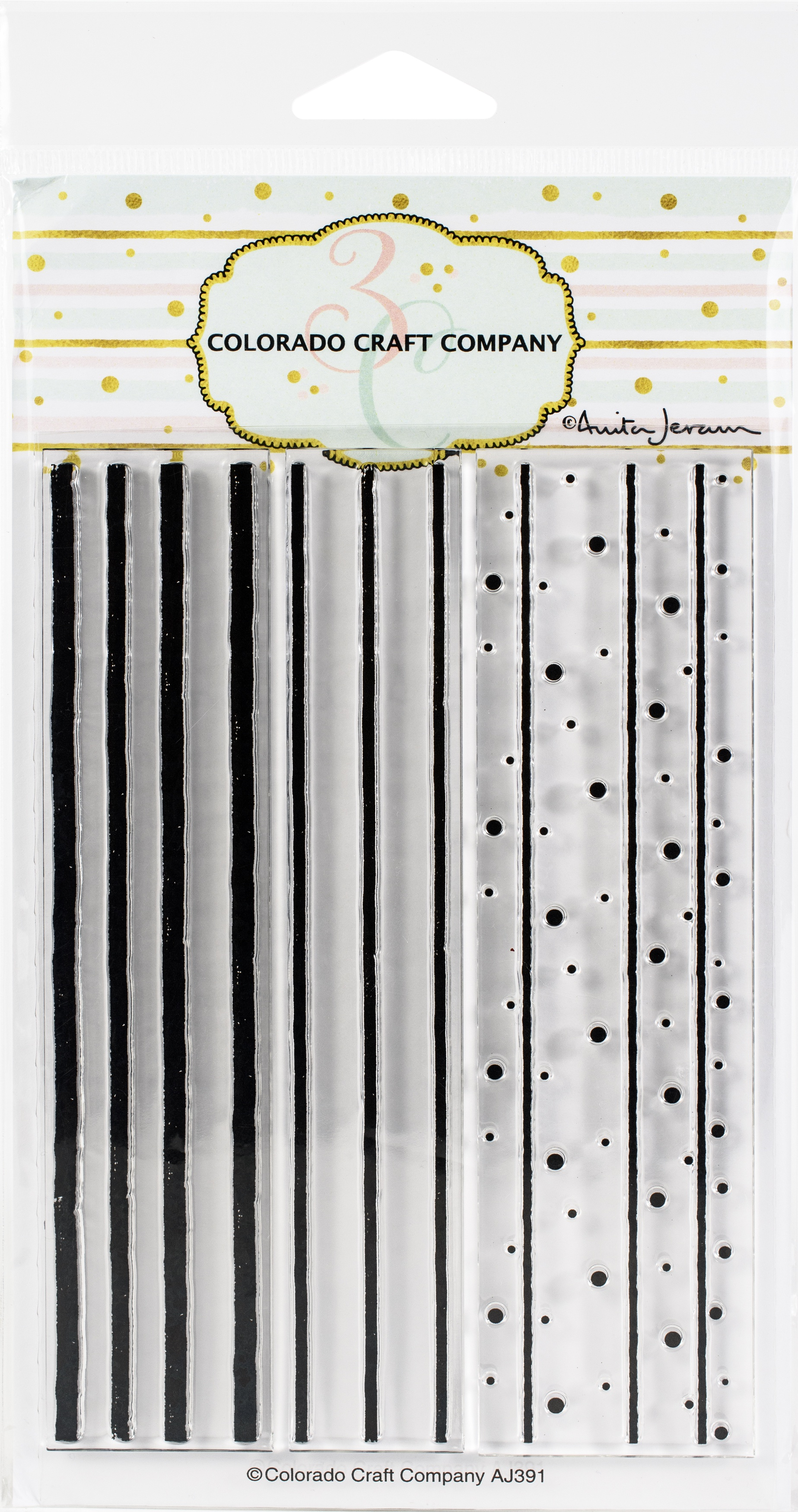 Colorado Craft Company Clear Stamps 4X6-Stripes & Dots Background-By Anita Jer...