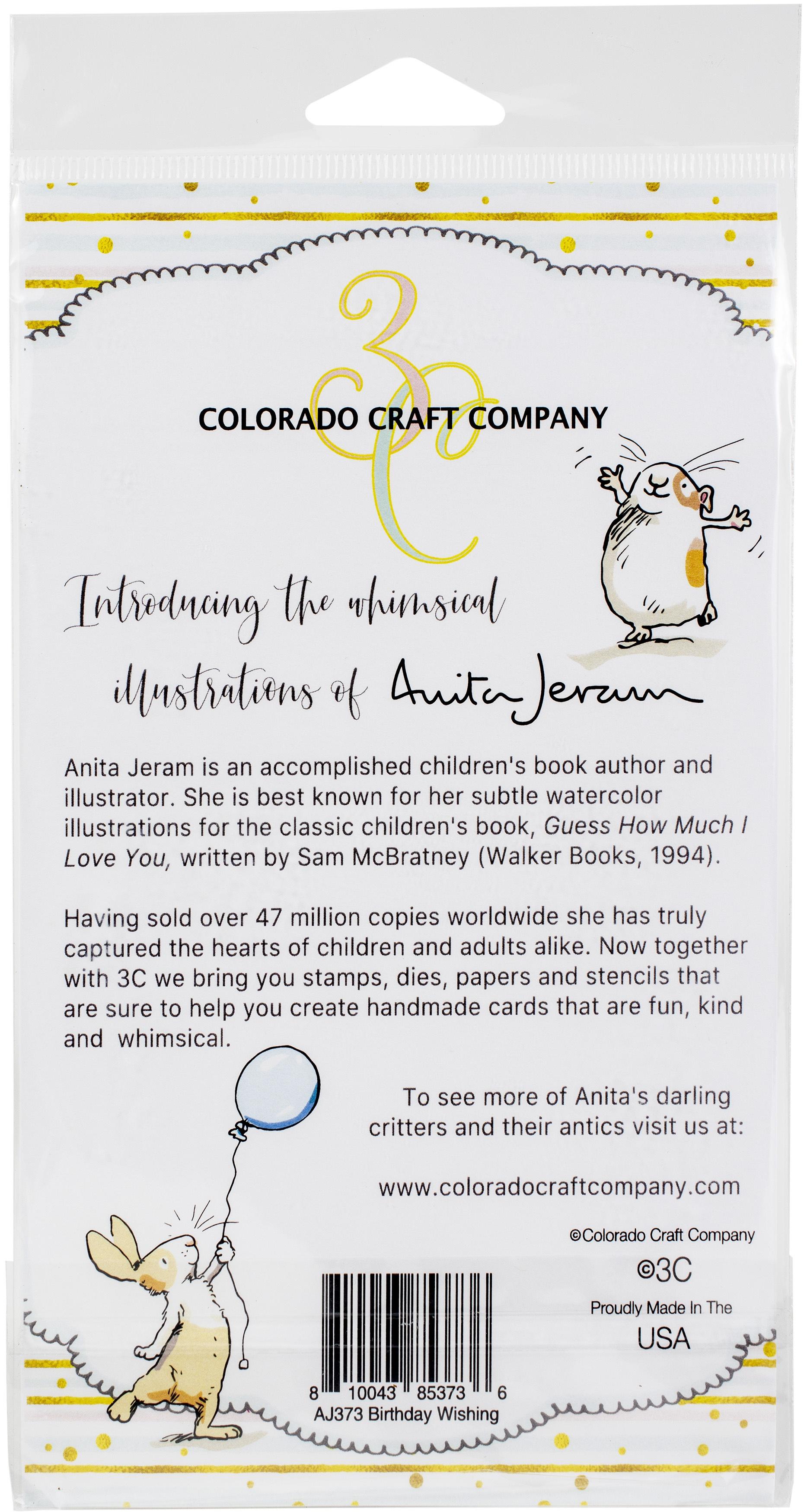 Colorado Craft Company Clear Stamps 4X6-Birthday Wishing-By Anita Jeram