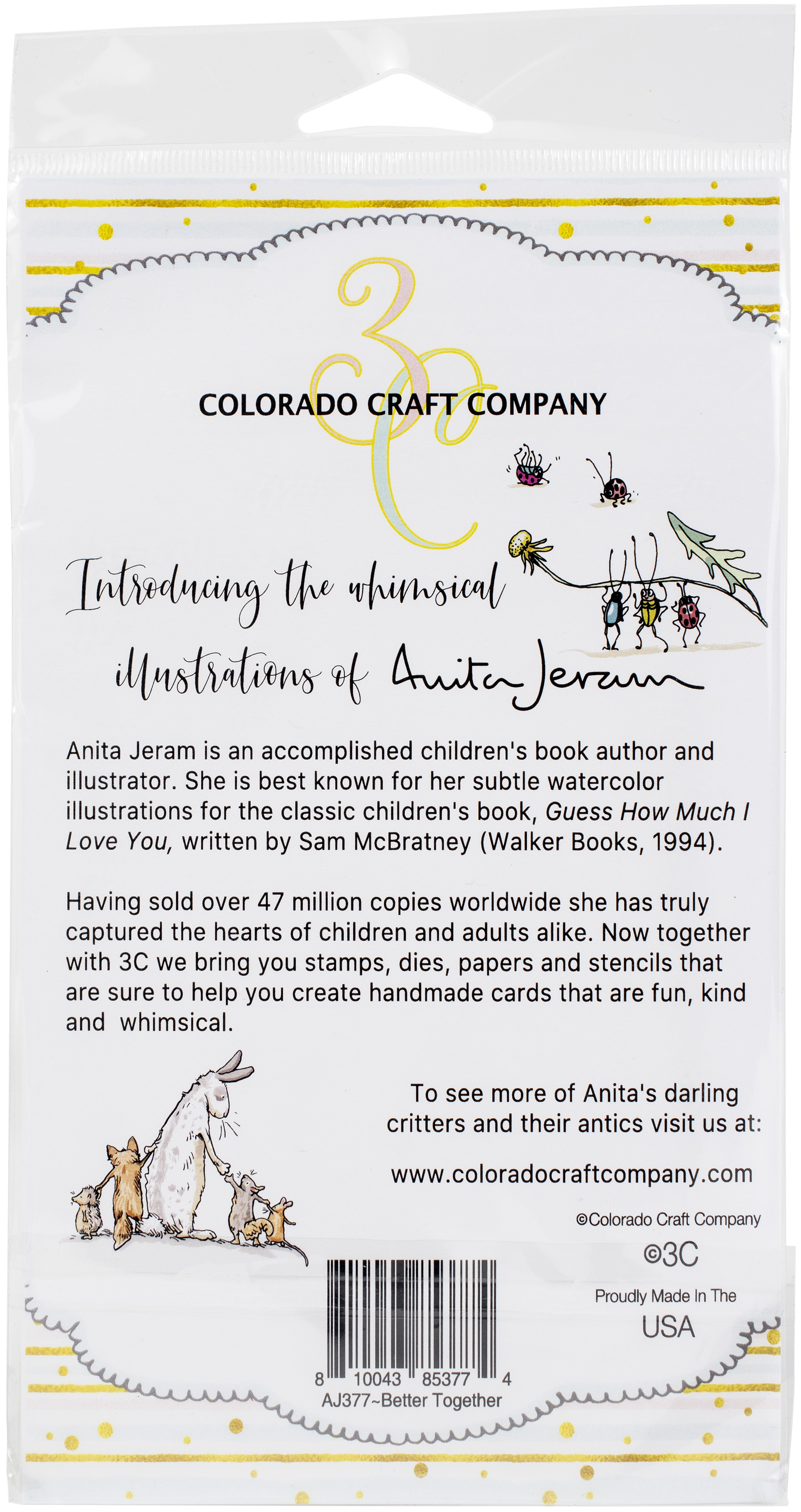 Colorado Craft Company Clear Stamps 4X6-Better Together-By Anita Jeram