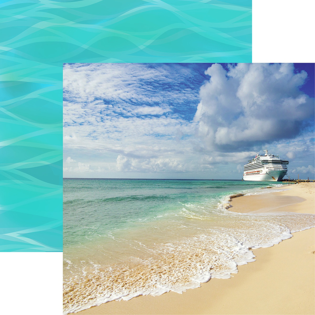 Reminisce - Cruise Life, Ocean Cruise Double-Sided Cardstock 12 x 12