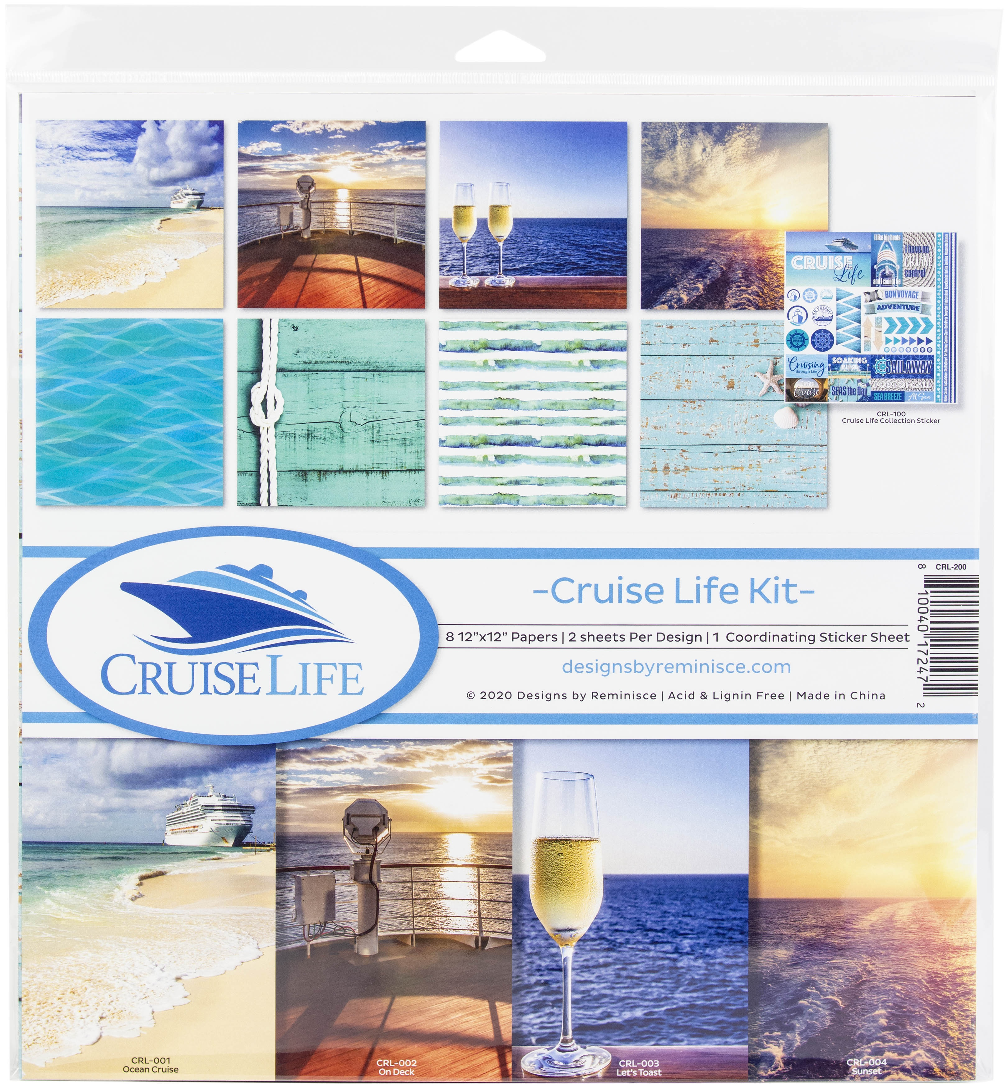 Reminisce Collection Kit 12X12-Cruise Life