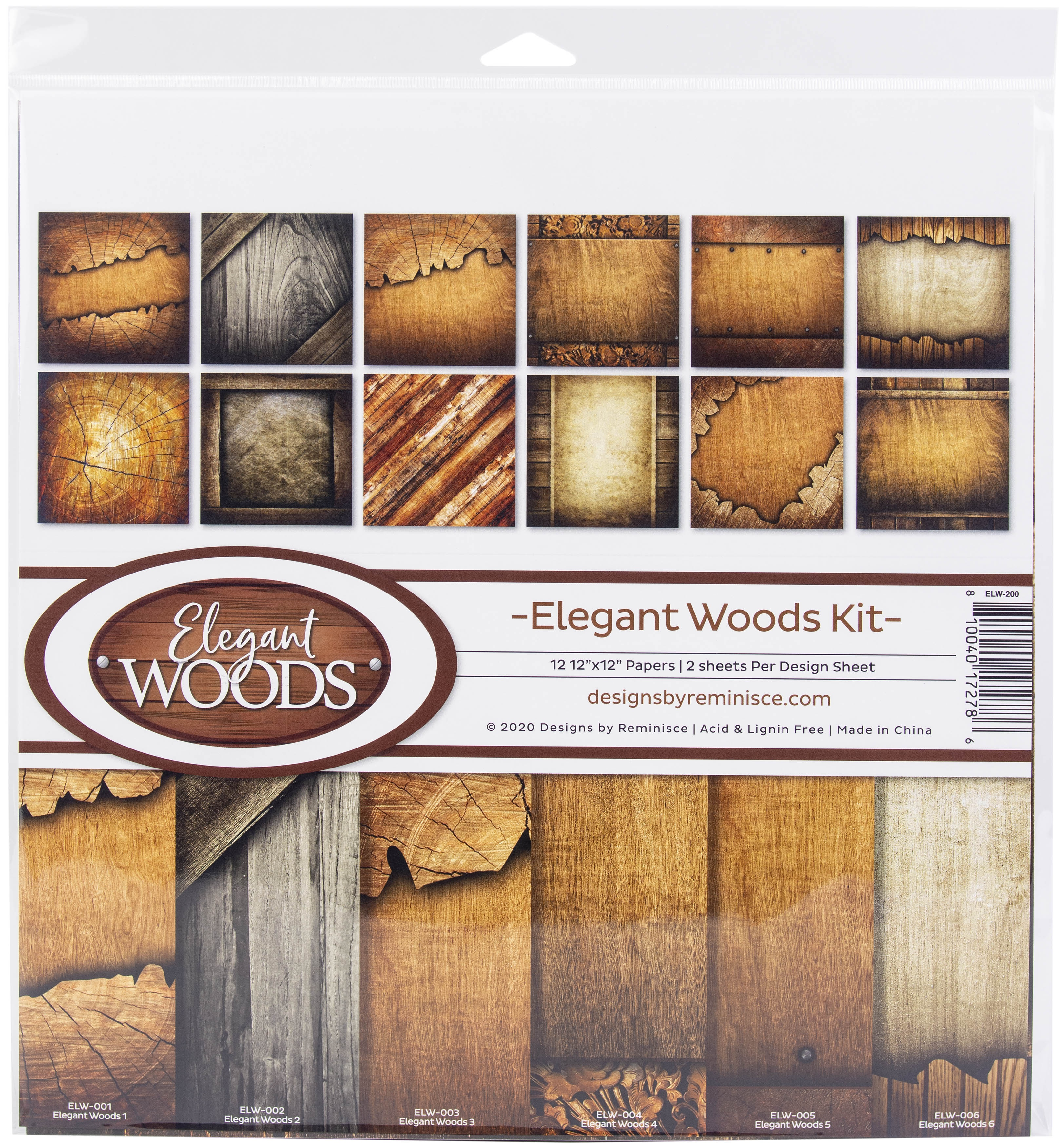 Reminisce Collection Kit 12X12-Elegant Woods