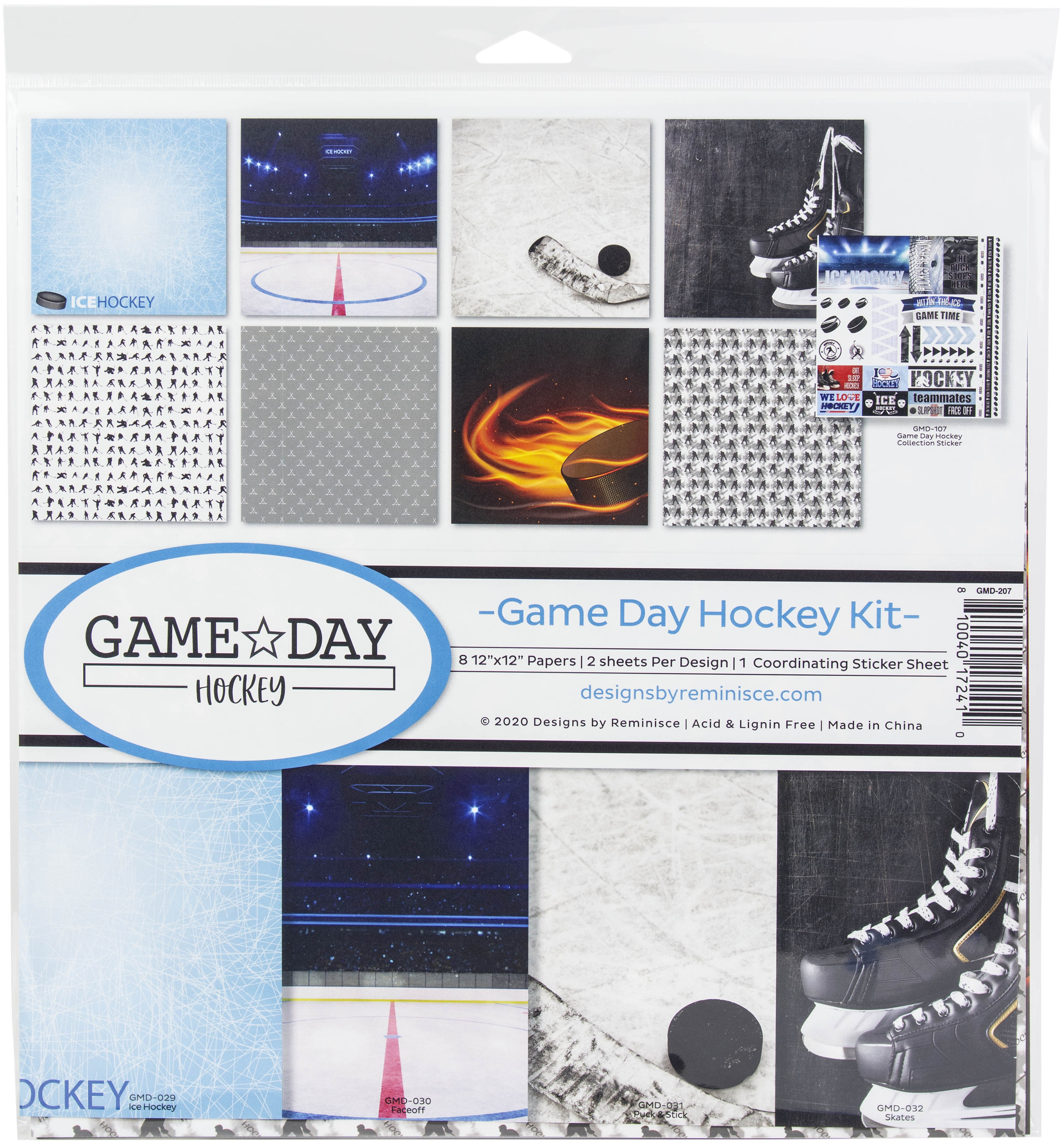Reminisce Collection Kit 12X12-Game Day Hockey