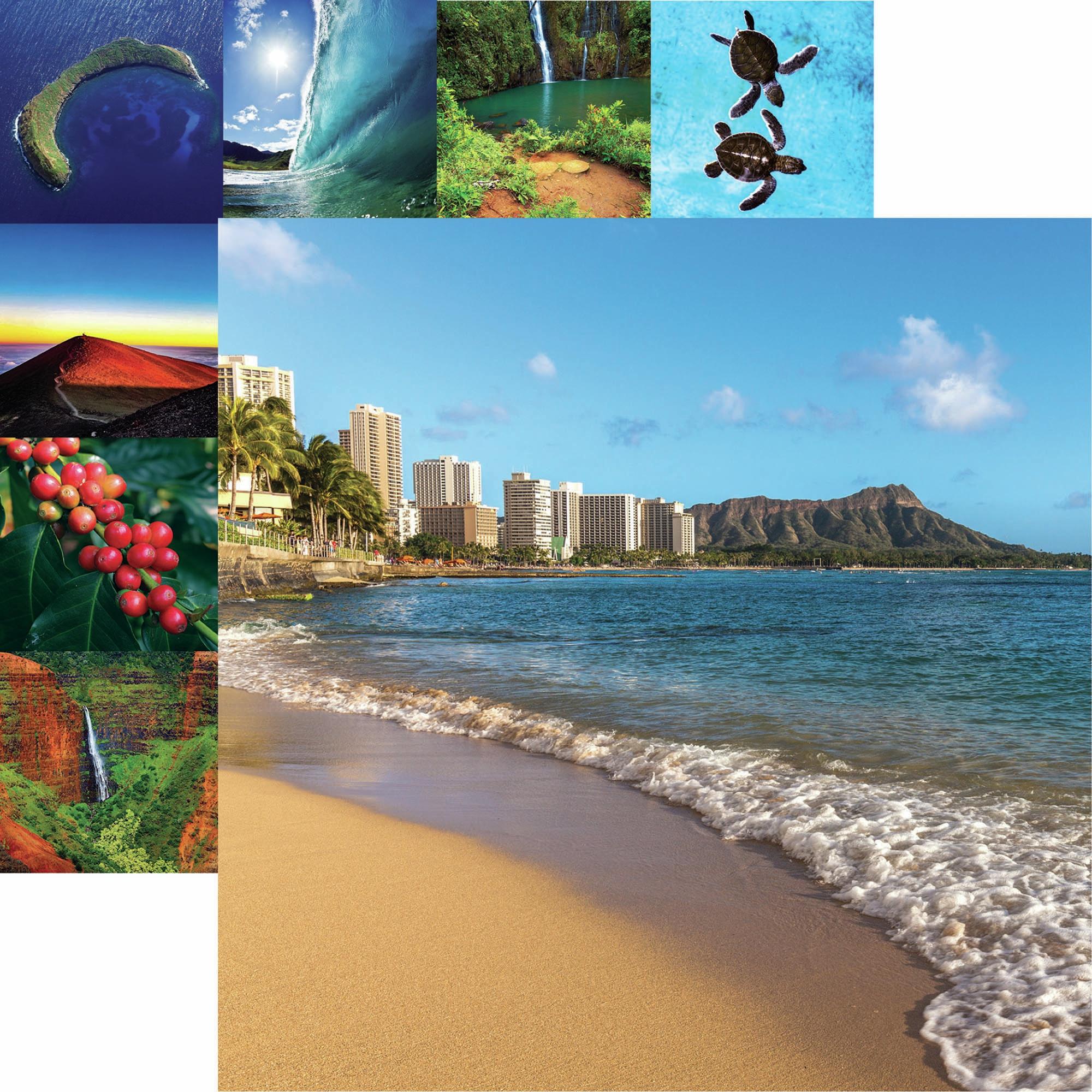 Hawaii Double-Sided Cardstock 12X12-Lanihai Sunrise