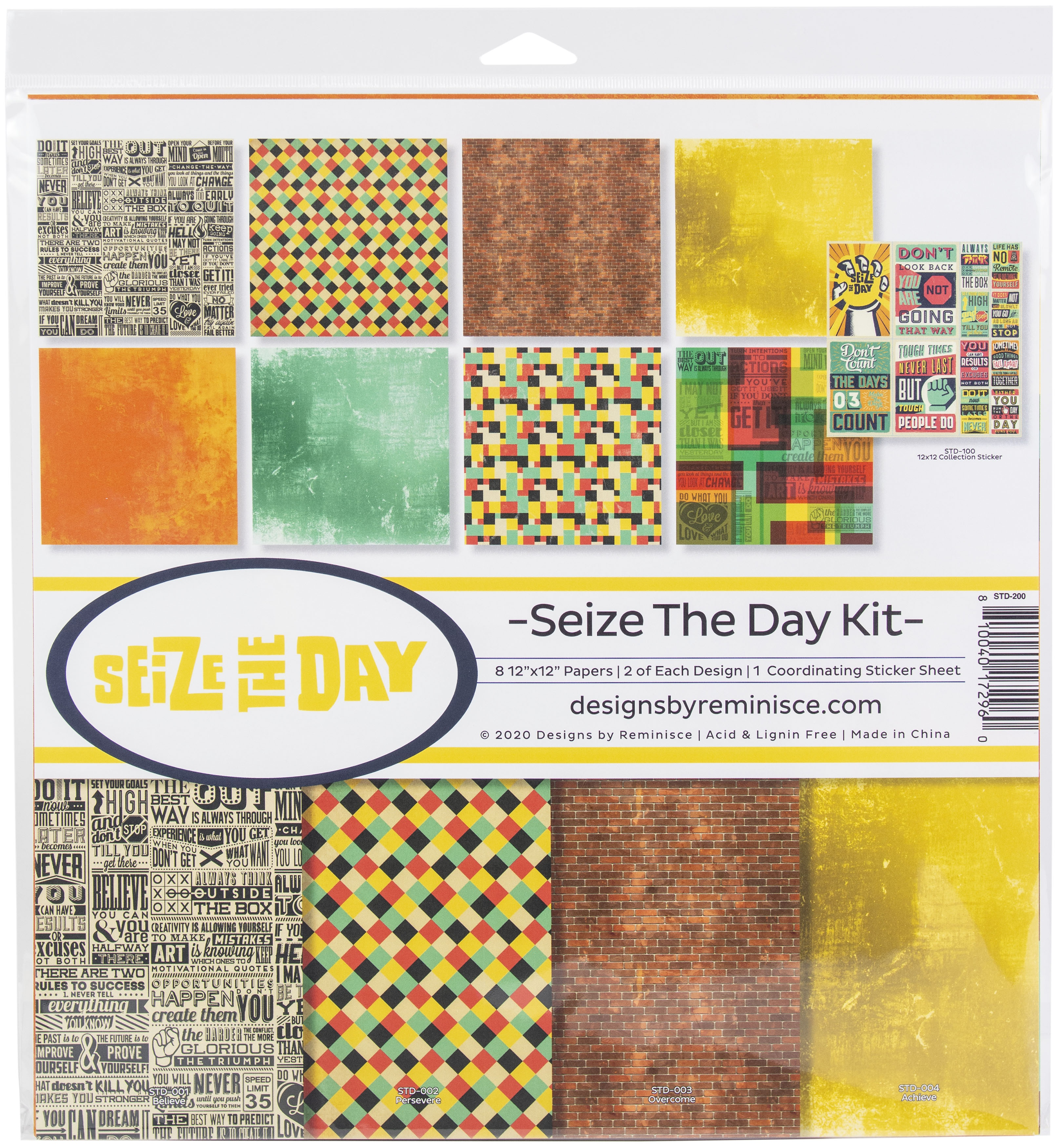 Reminisce  - 12x12 Collection Kit - Seize The Day