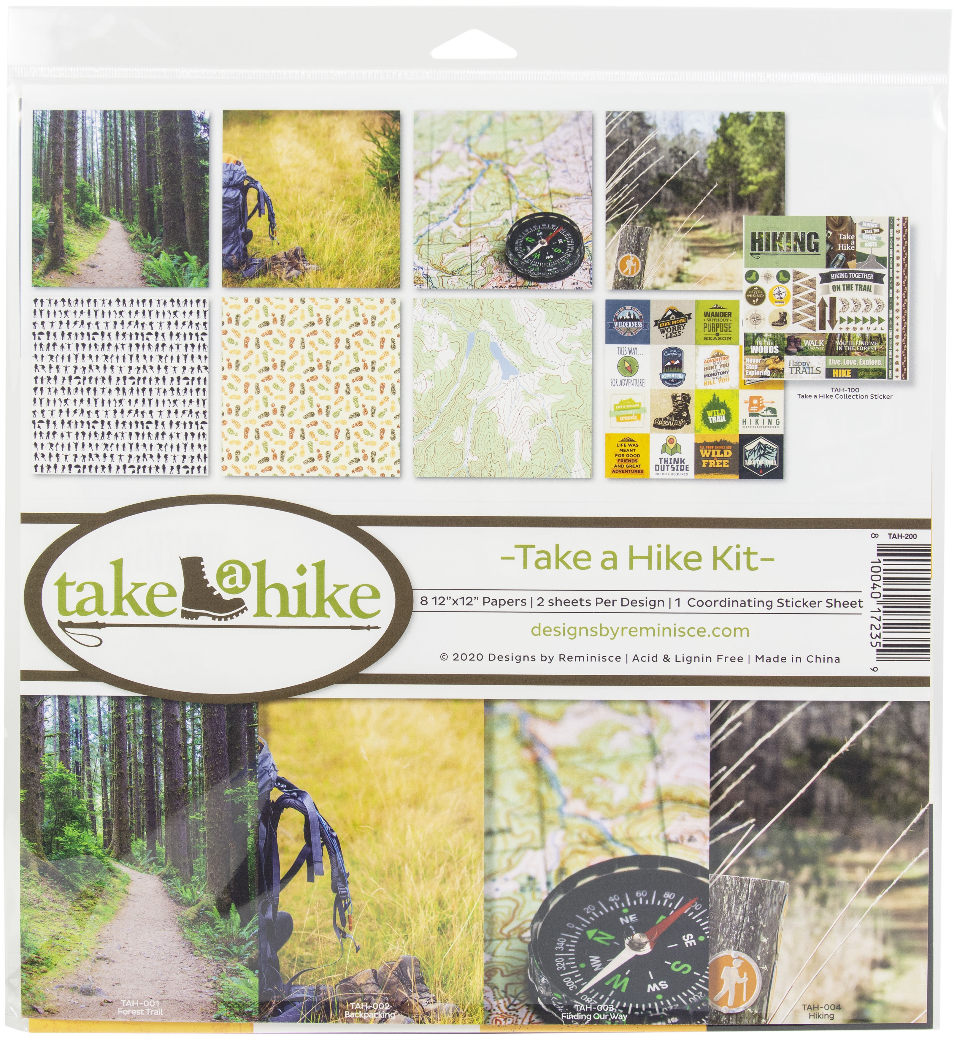 Reminisce Collection Kit 12X12-Take A Hike
