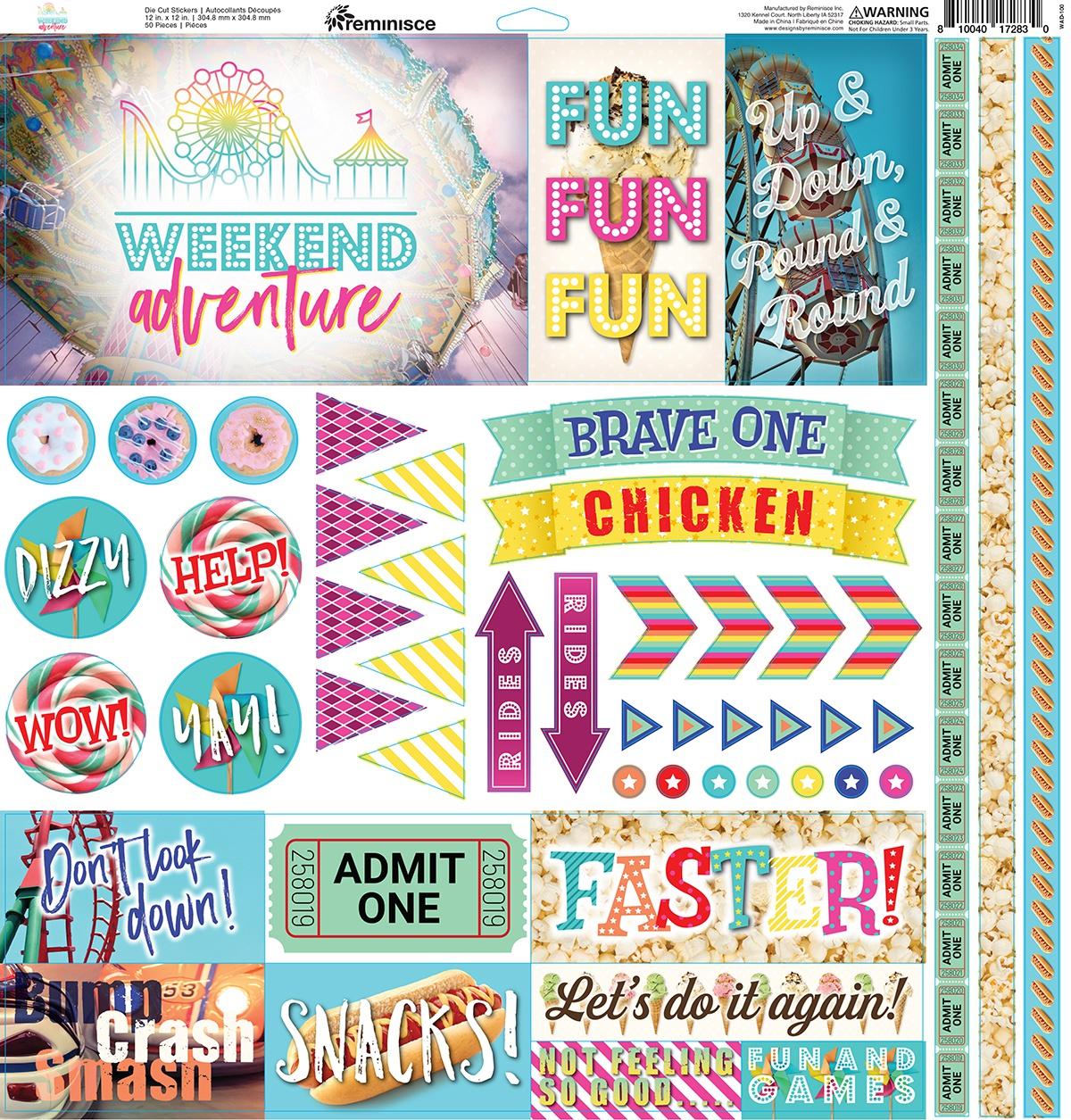 Reminisce Cardstock Stickers 12X12-Weekend Adventure